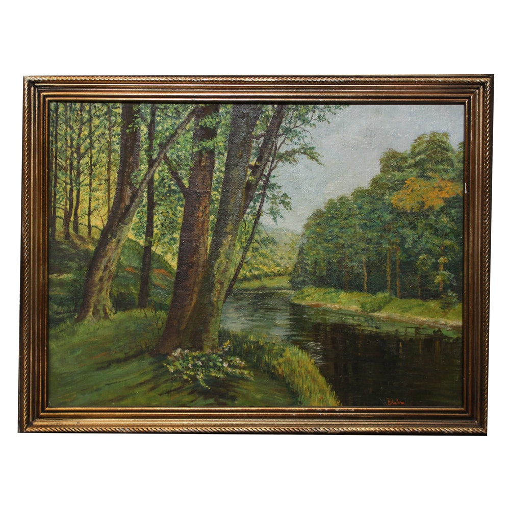 Bluhm Oil Painting of River