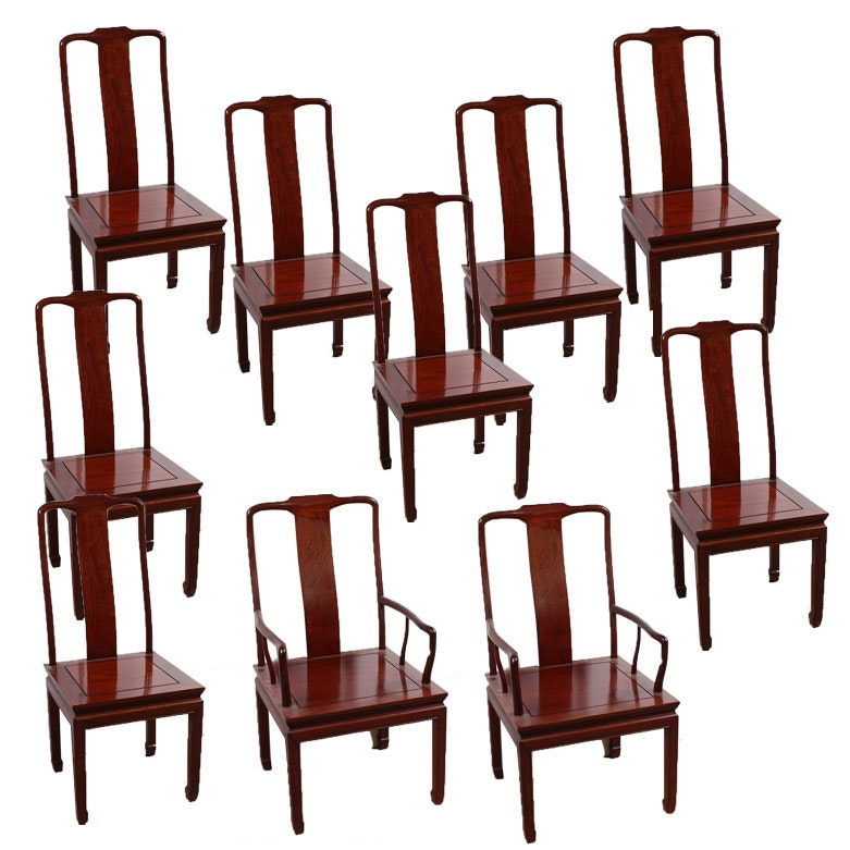 Chinese Empire Wooden Dining Chairs