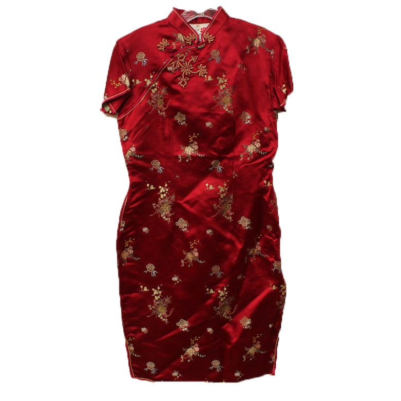 Peony Brand Chinese Silk Brocade Cheongsam Dress