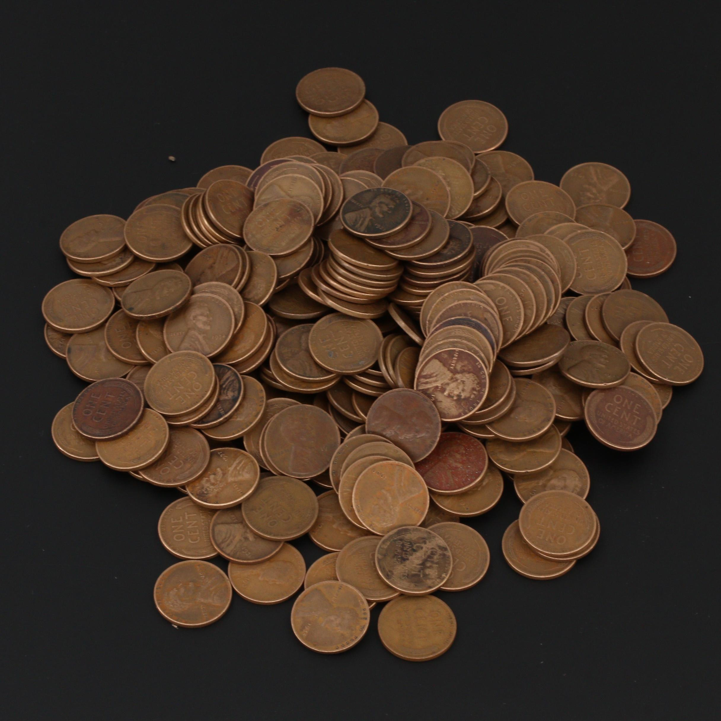 Group of 250 Lincoln Wheat Cents From the 1930s