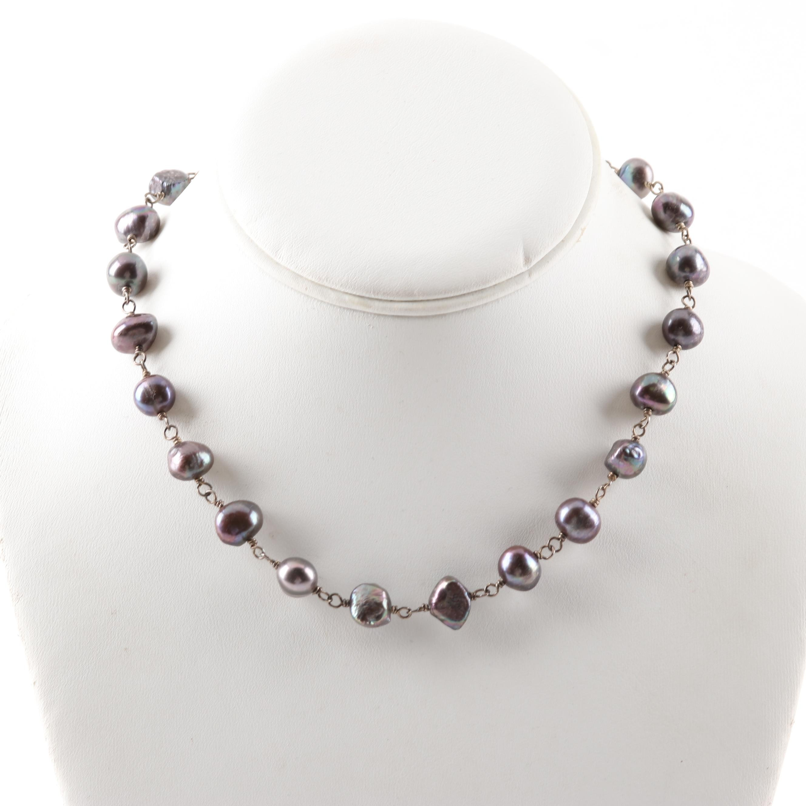 Silpada Sterling Silver Freshwater Pearl Necklace