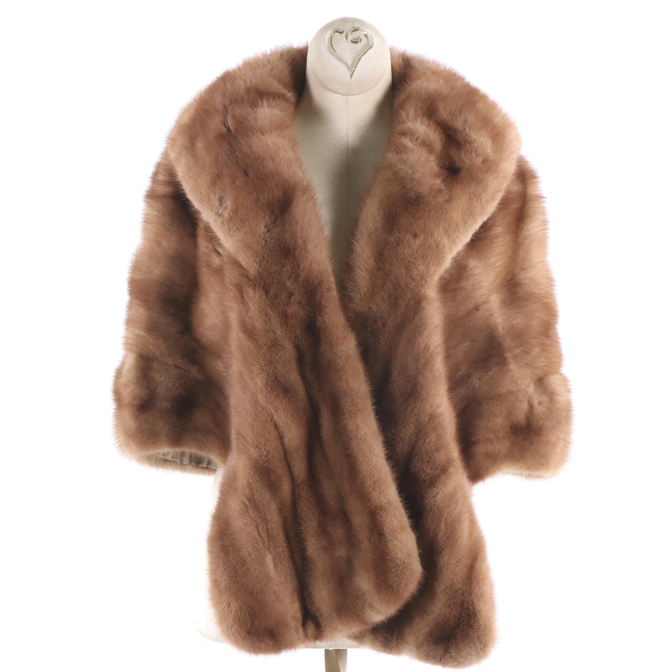 Women's Schimmel Furs Natural Mink Capelet, Vintage