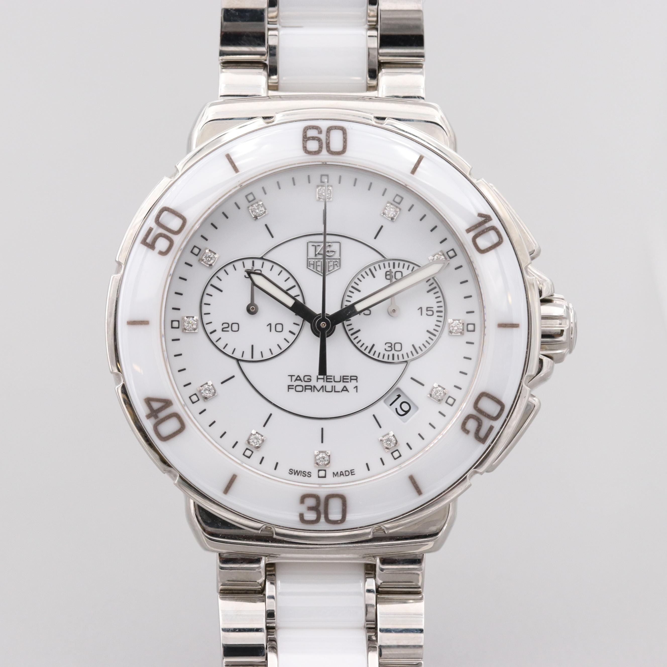 TAG Heuer Formula 1 Chronograph Wristwatch With Diamond Dial