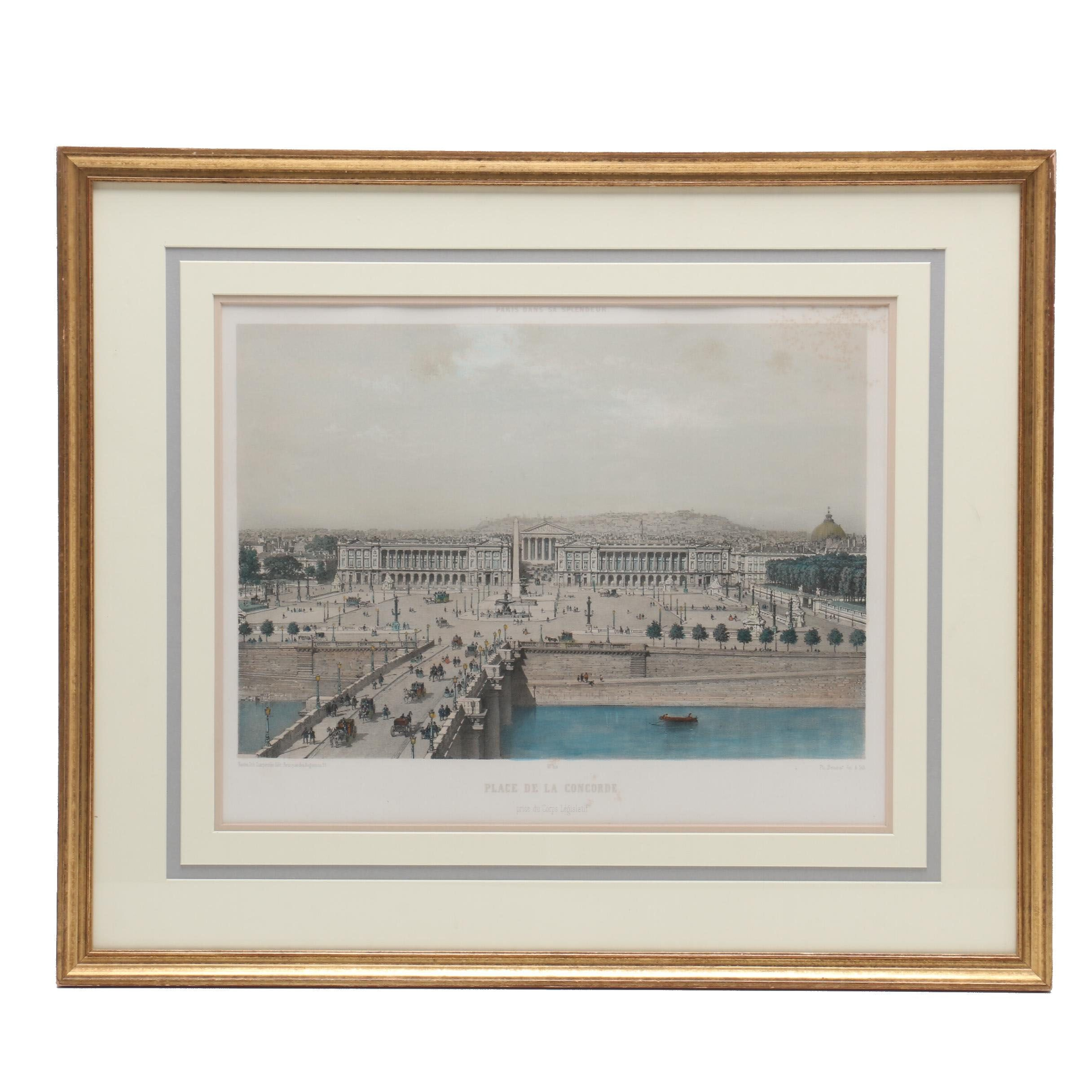 "Lithograph after Von Philippe Benoist ""Paris Dans Sa Splendeur"""