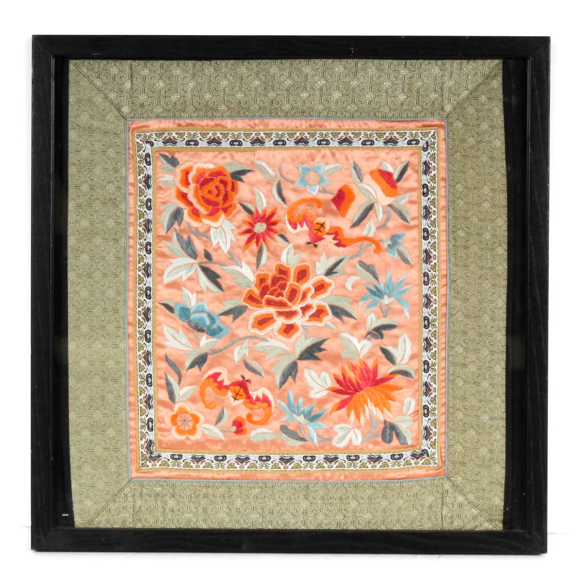 Chinese Hand-Embroidered Silk Textile