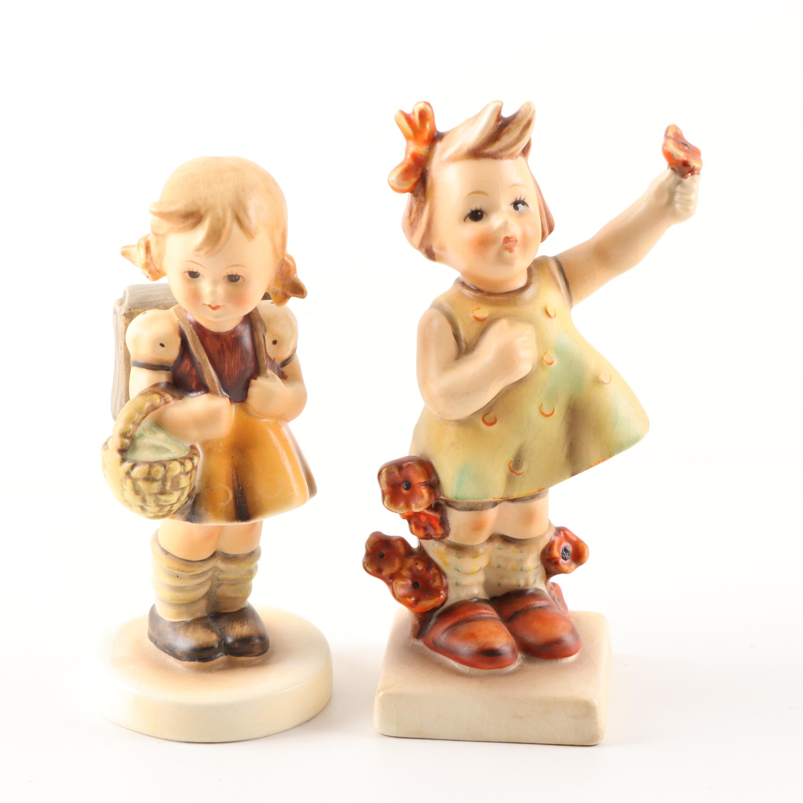 "Hummel ""Spring Cheer"" and ""School Girl"" Figurines"