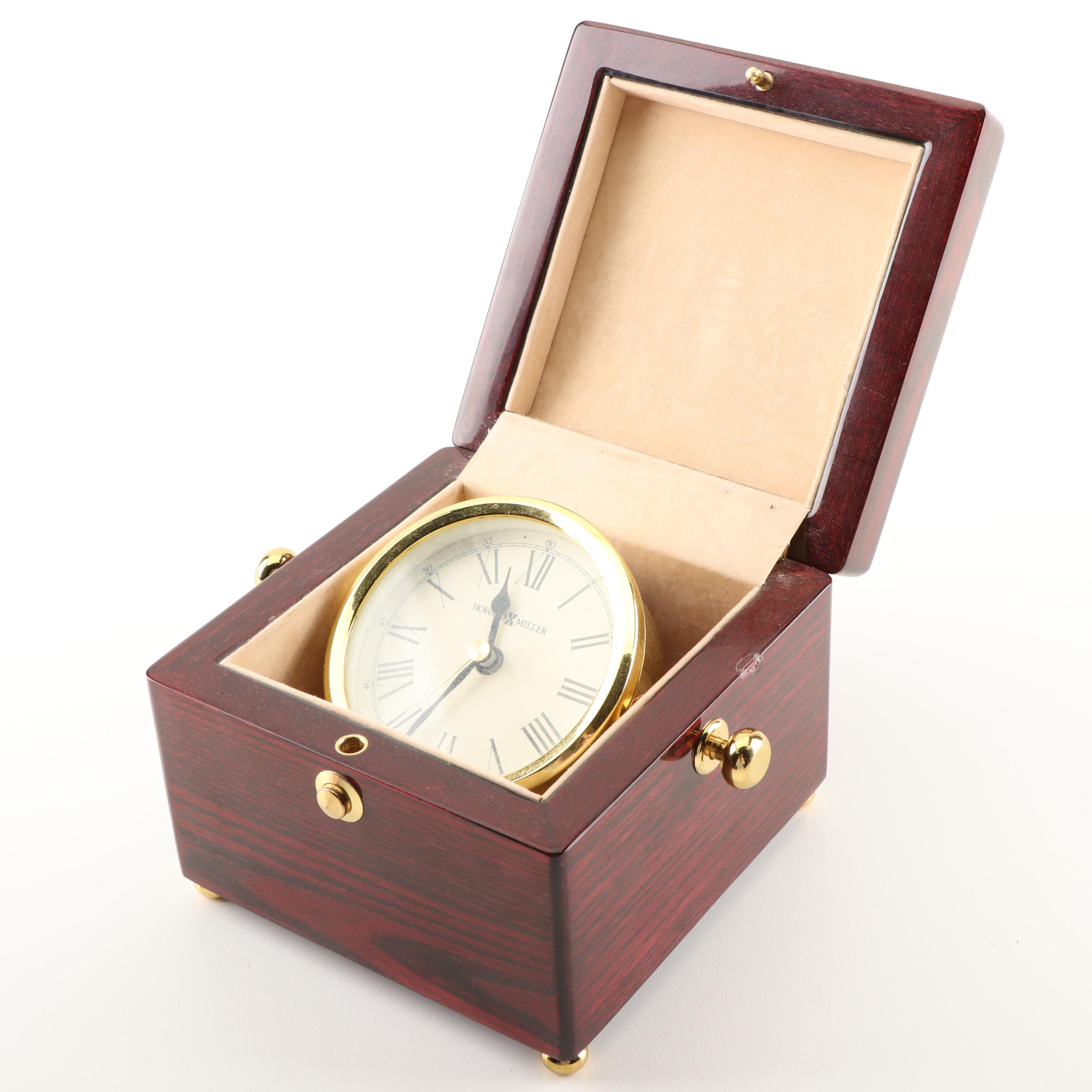 "Howard Miller ""Bailey"" Gimbaled Boxed Desk Clock"