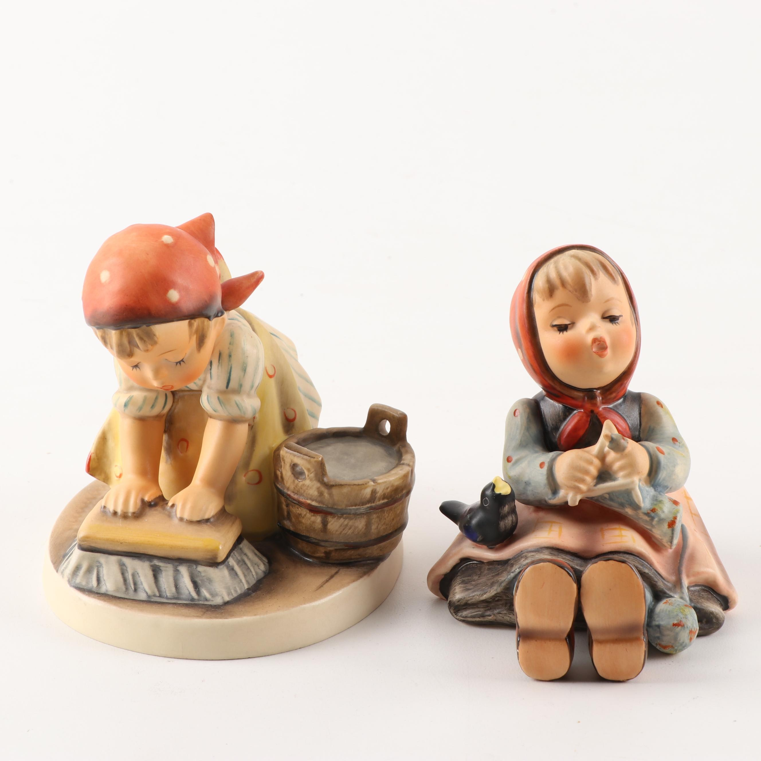 """Hummel """"Happy Pastime"""" and """"Big House Cleaning"""" Figurines"""