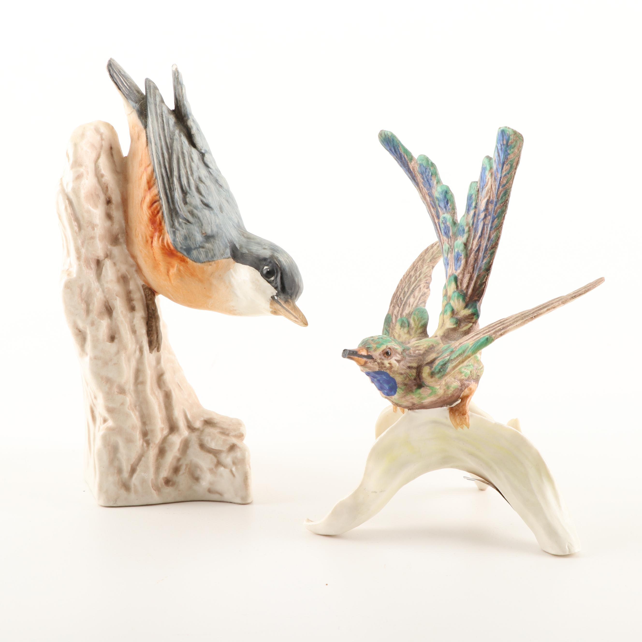 "Hummel ""Hummingbird"" and ""Nuthatch"" Figurines"