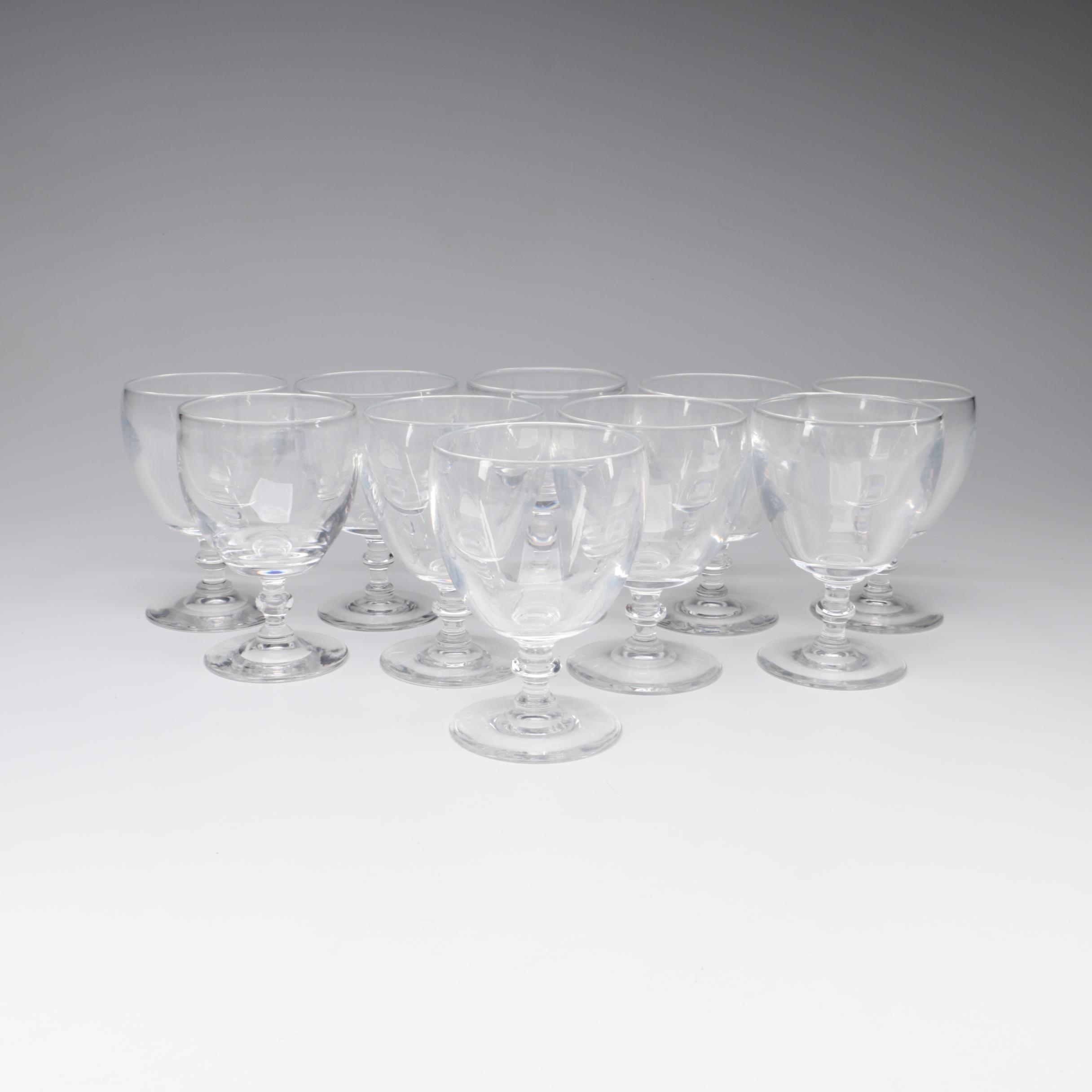 Steuben Art Glass Water Goblets, Mid-Century
