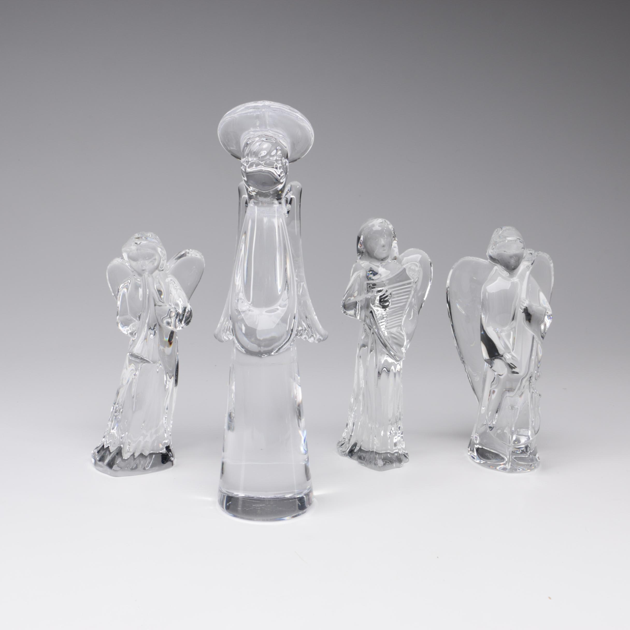 Baccarat Nativity Series Crystal Angel Figurines