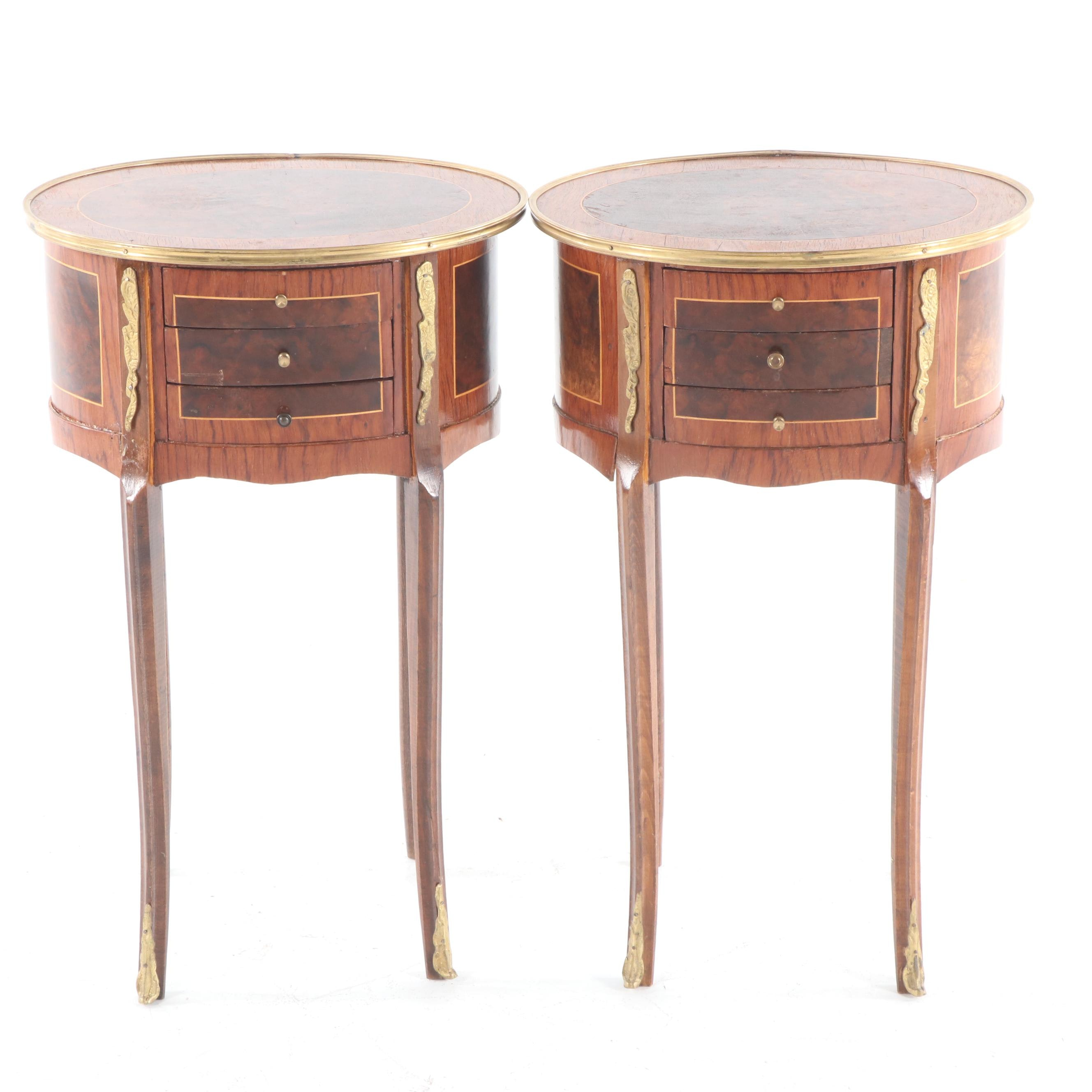 Louis XV Style Inlaid Side Tables