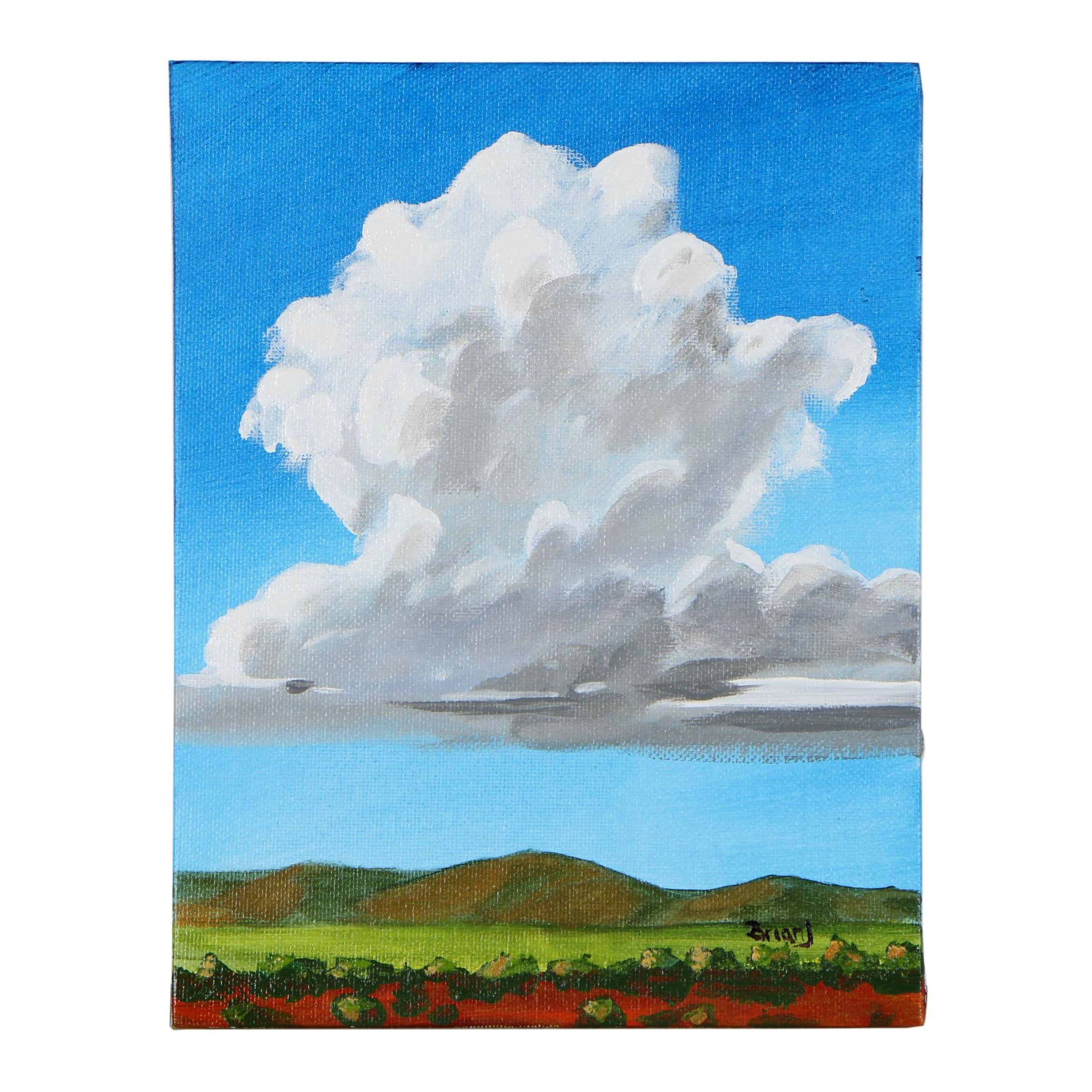 "Brian Johnpeer Acrylic Painting ""Thunder Cloud"""