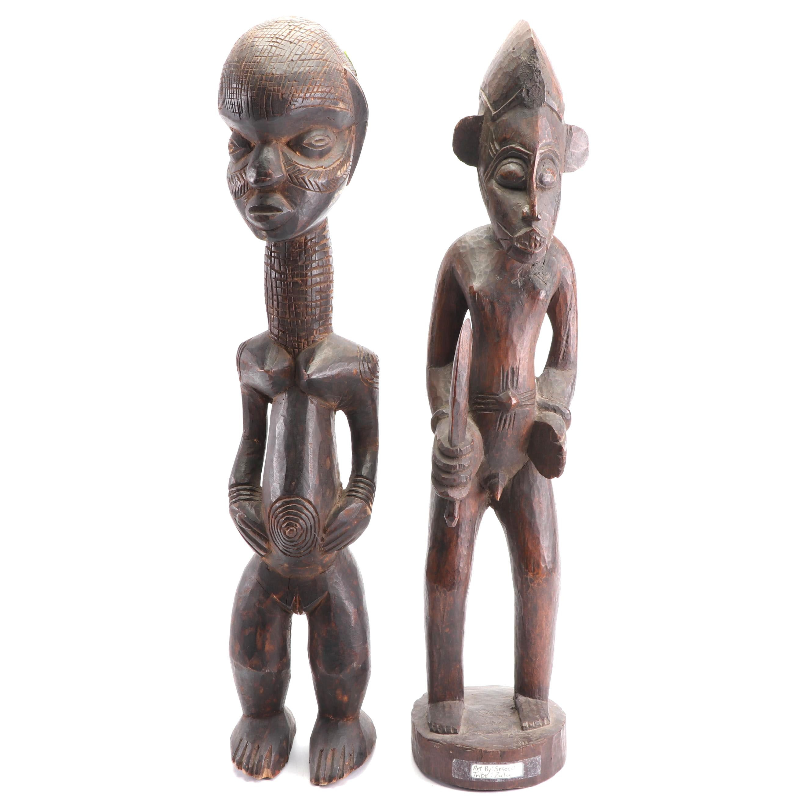 Carved Fertility Figures from the Zulu Tribe