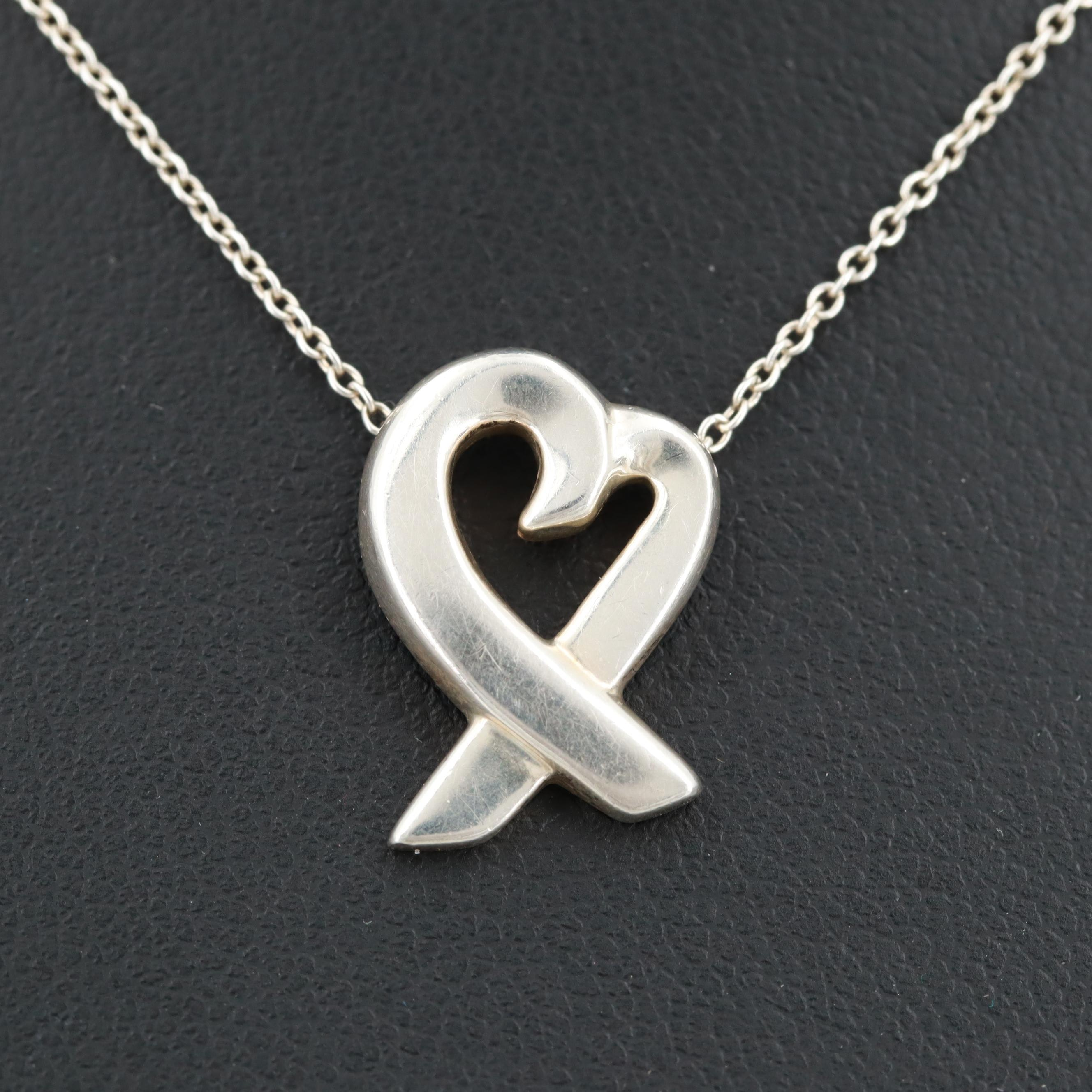 """Paloma Picasso for Tiffany & Co. """"Loving Heart"""" Sterling Silver Necklace"""