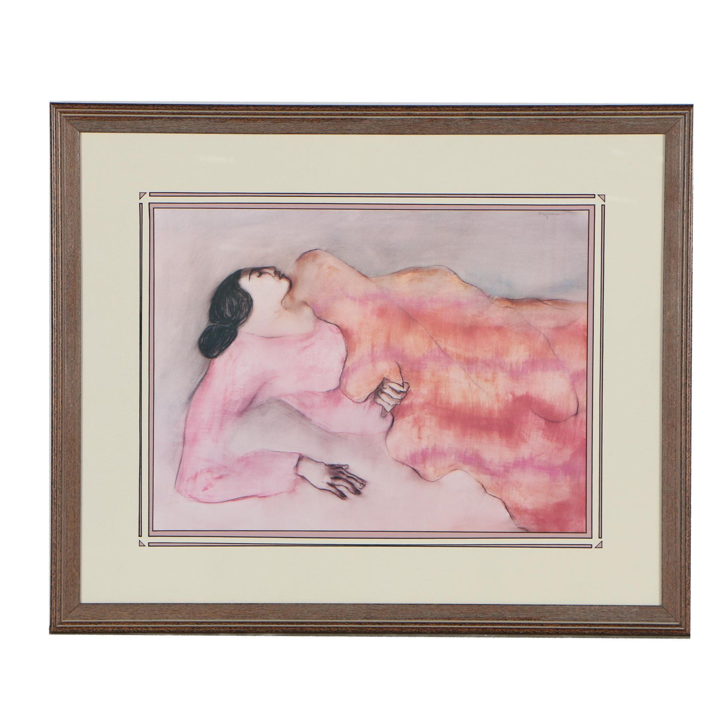 """Offset Lithograph after R.C. Gorman """"Winona"""""""