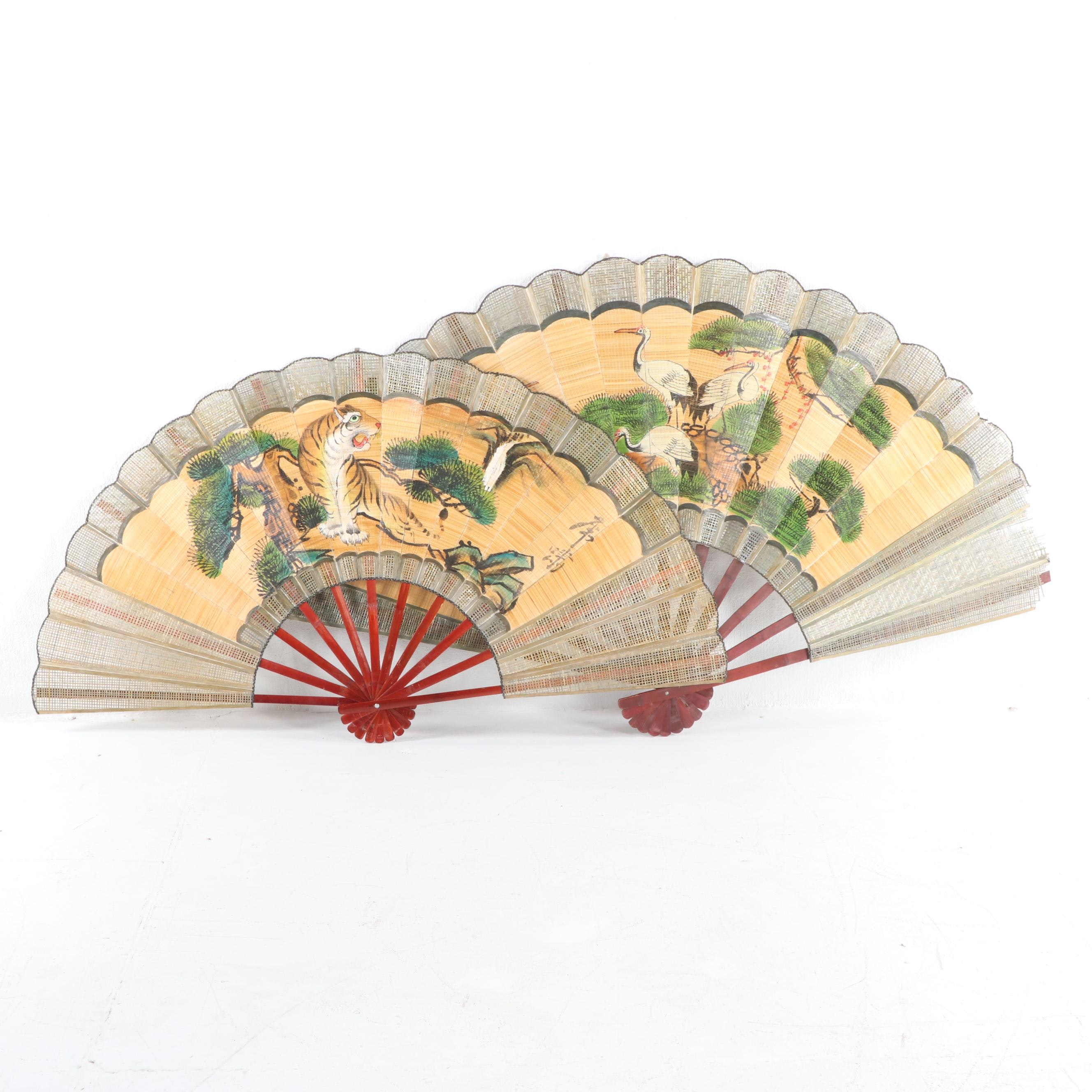 Chinese Painted Decorative Wall Fans