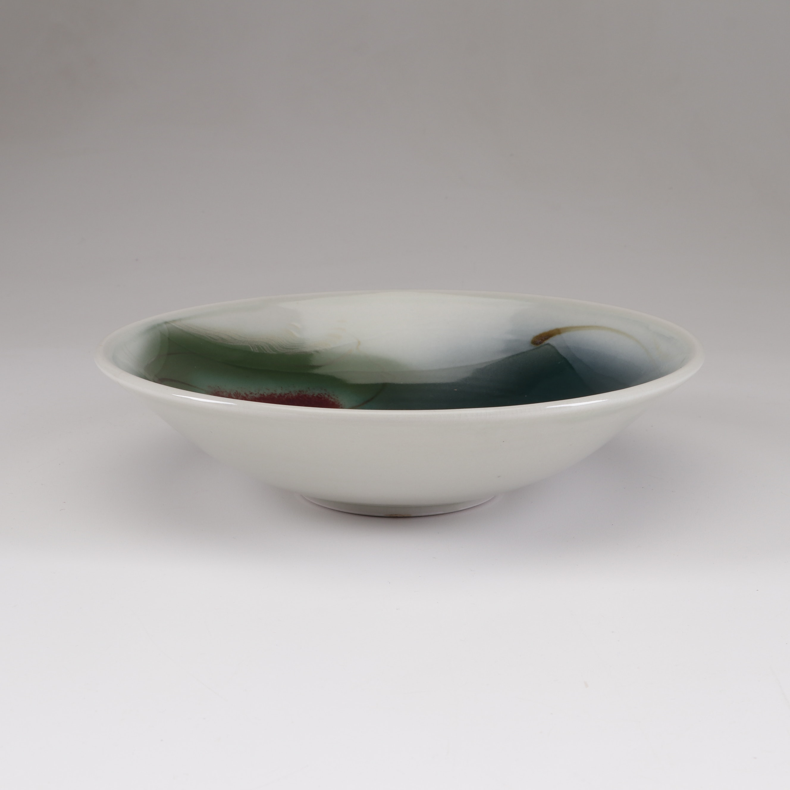 Alan Vigland Thrown Porcelain Bowl, Late 20th Century