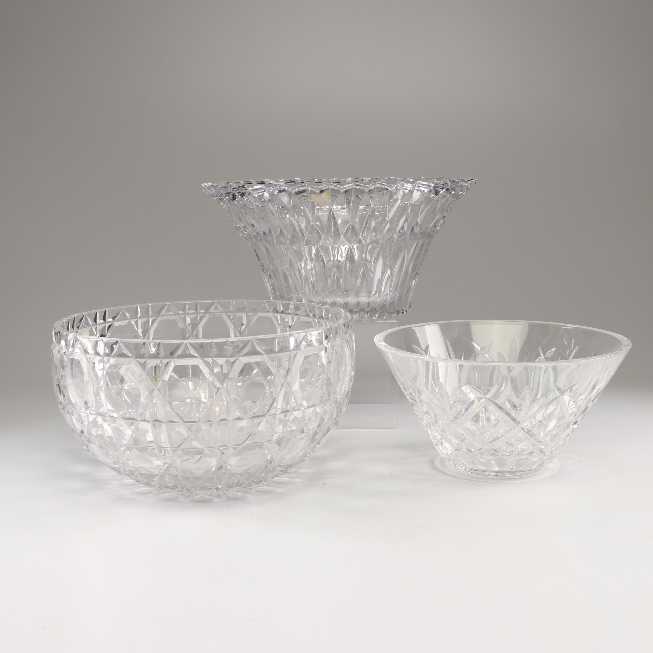 """Crystal Serving Bowls Including Fabergé """"Russian Court"""""""