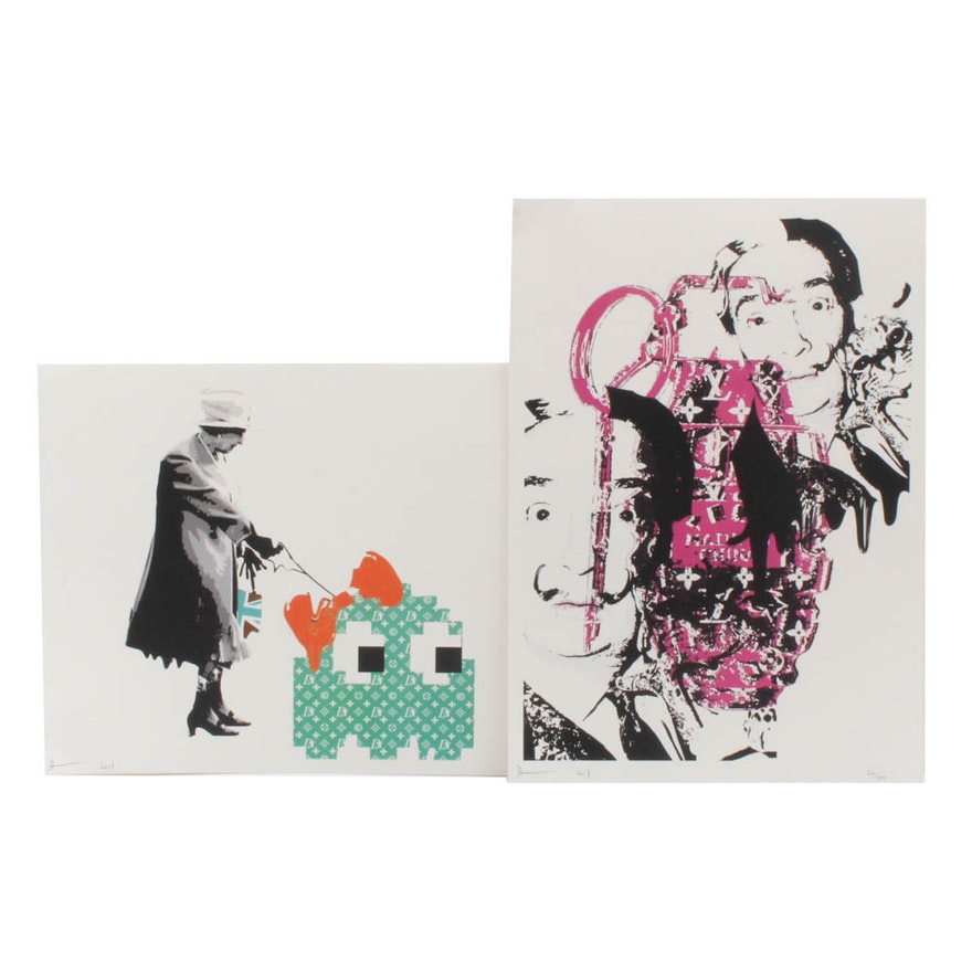 Death NYC Dali and Queen Elizabeth Graphic Prints