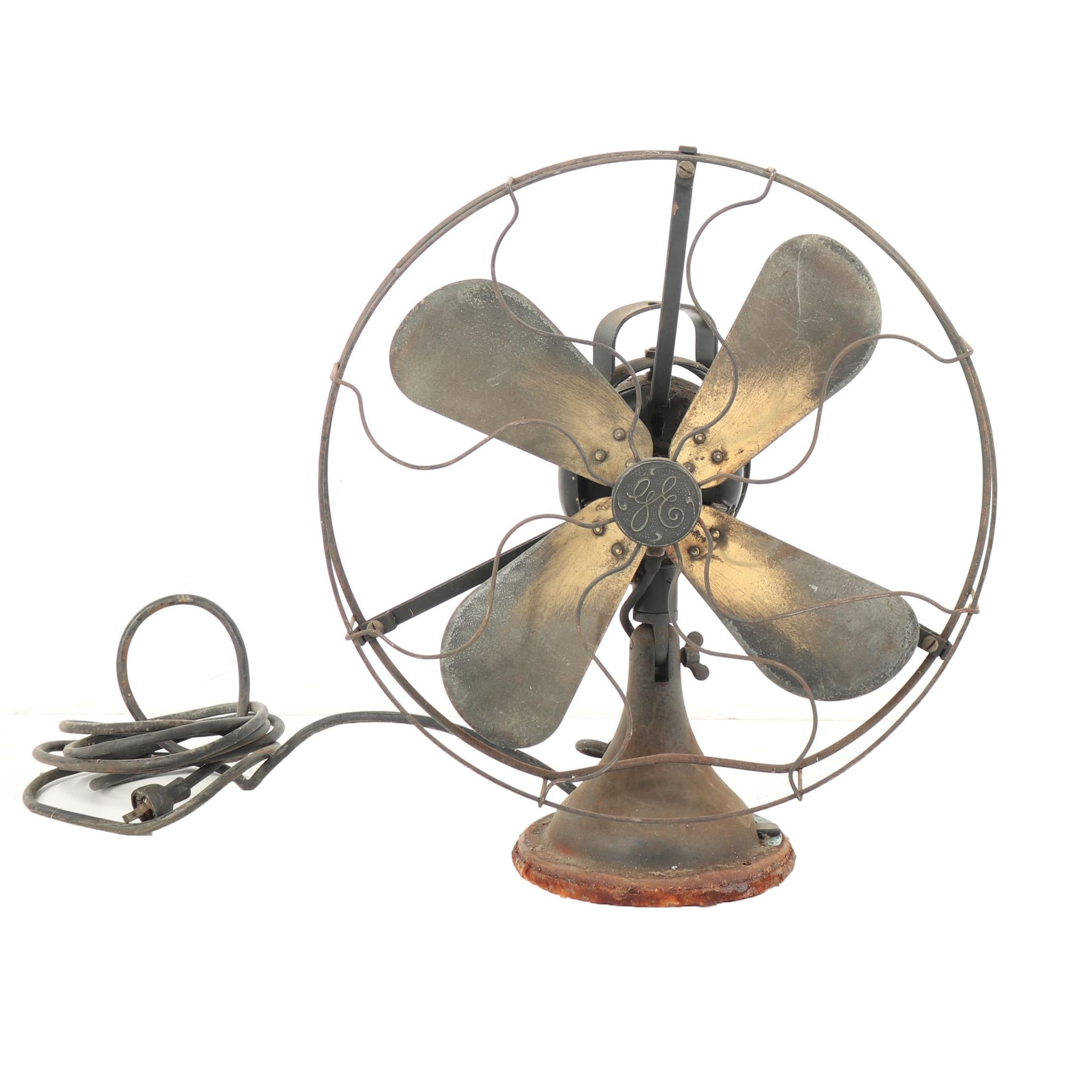 General Electric Metal Fan, Early to Mid 20th Century