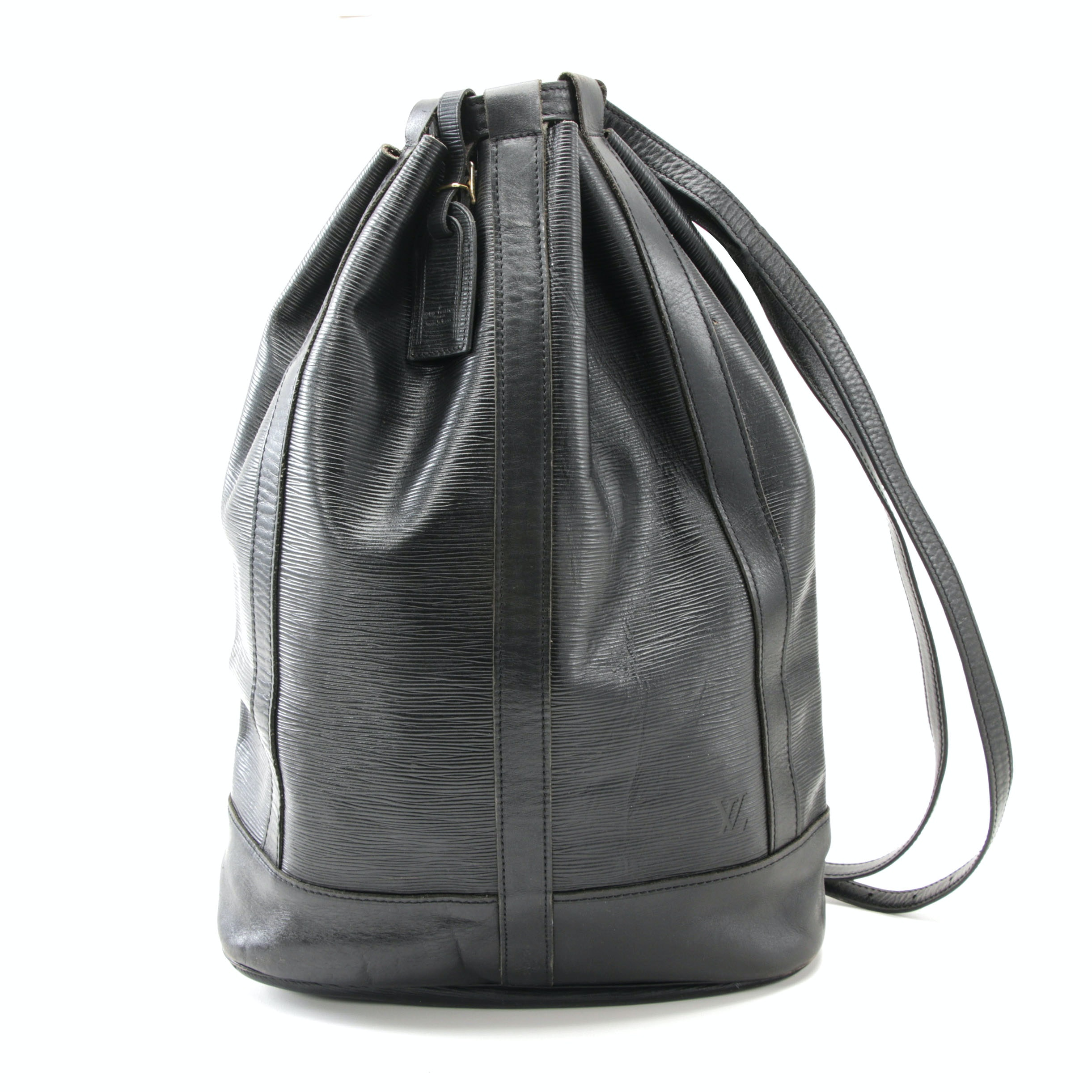Louis Vuitton Paris Black Epi Leather Randonnee Backpack Bag, 1986