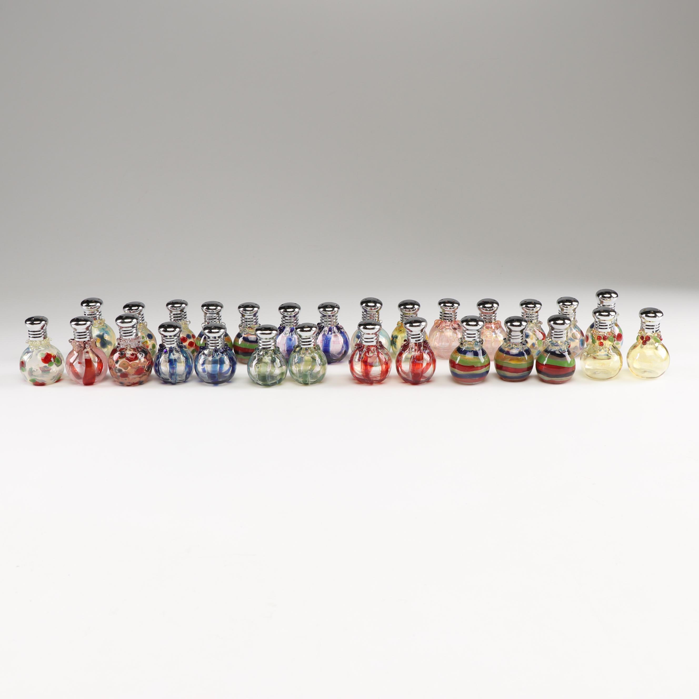 Handblown Art Glass Salt and Pepper Shakers, Late 20th Century