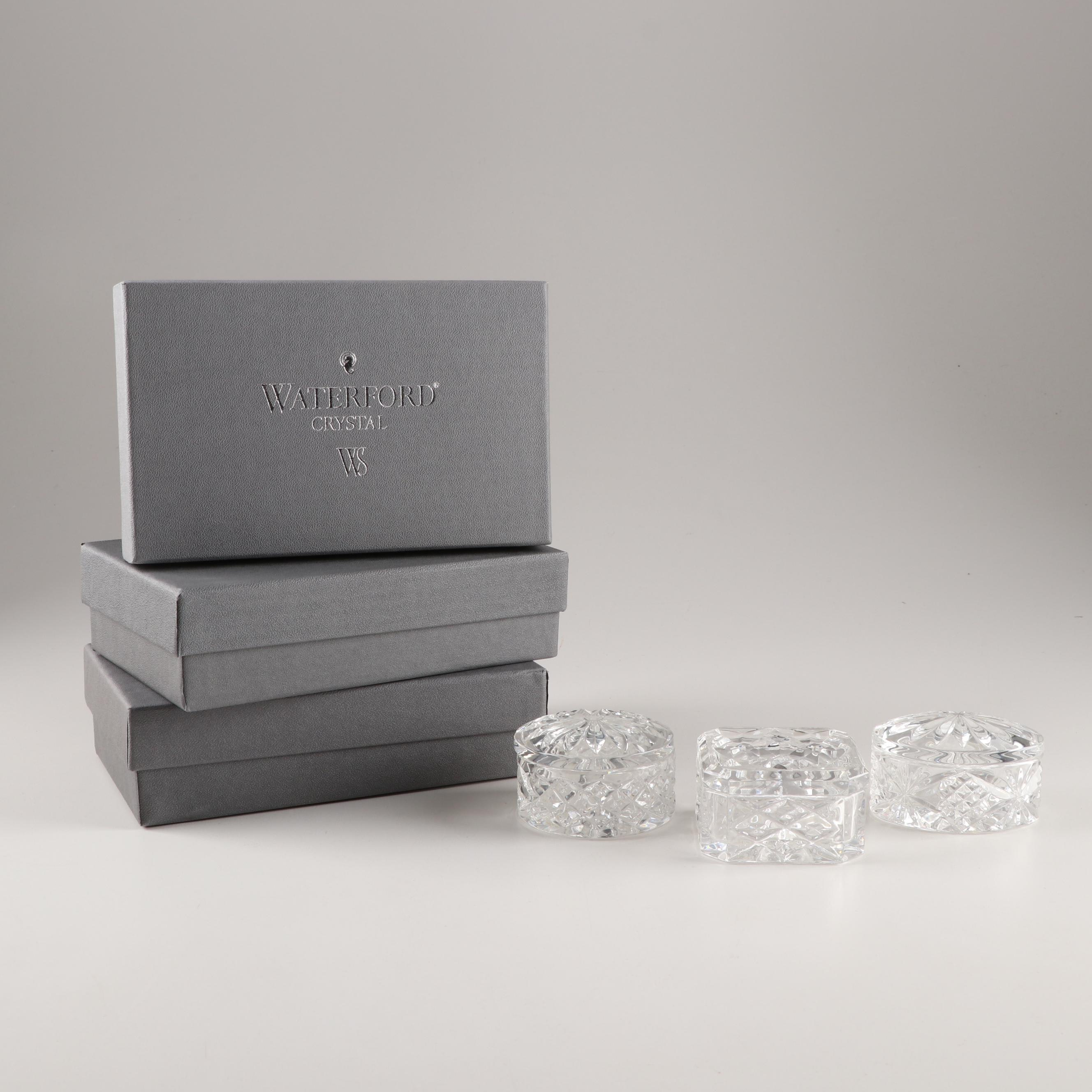 Waterford Crystal Trinket Boxes