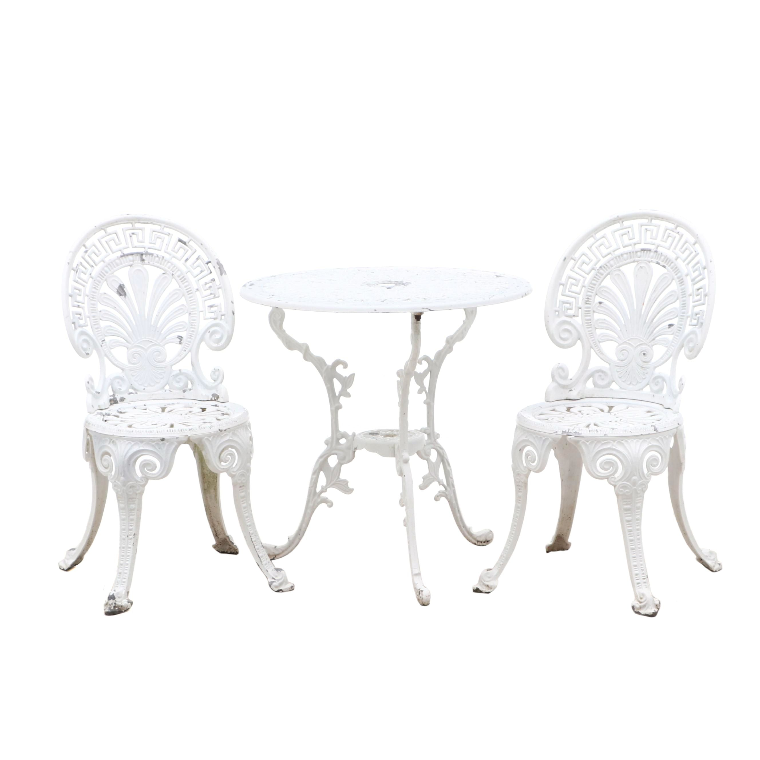 Garden Bistro Table and Chairs in Cast Aluminum