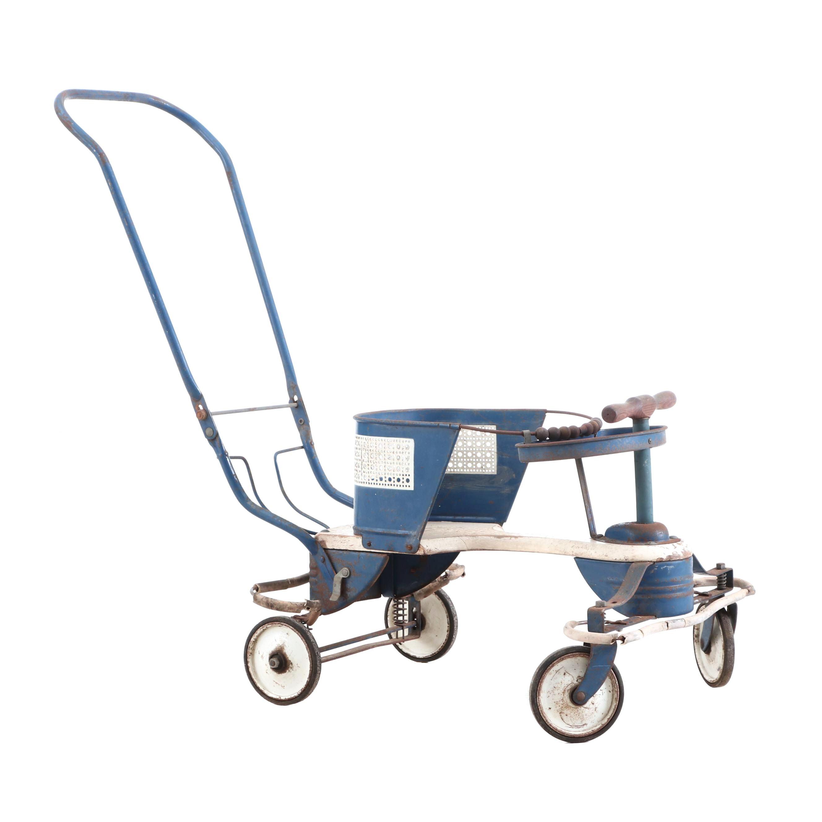 Mid-Century Decorative Baby Stroller