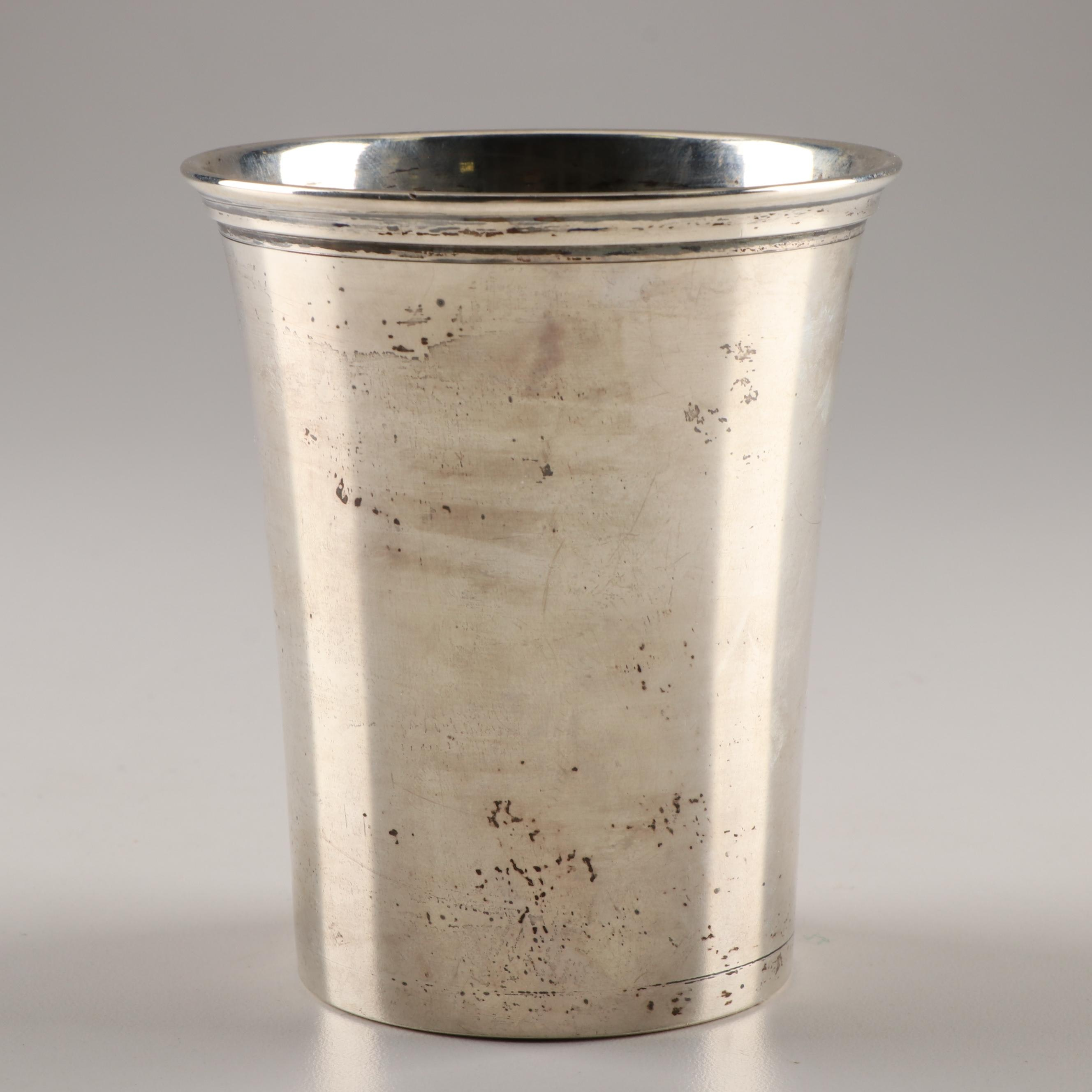 American Sterling Mint Julep Cup by Paul Doumeng 20th Century