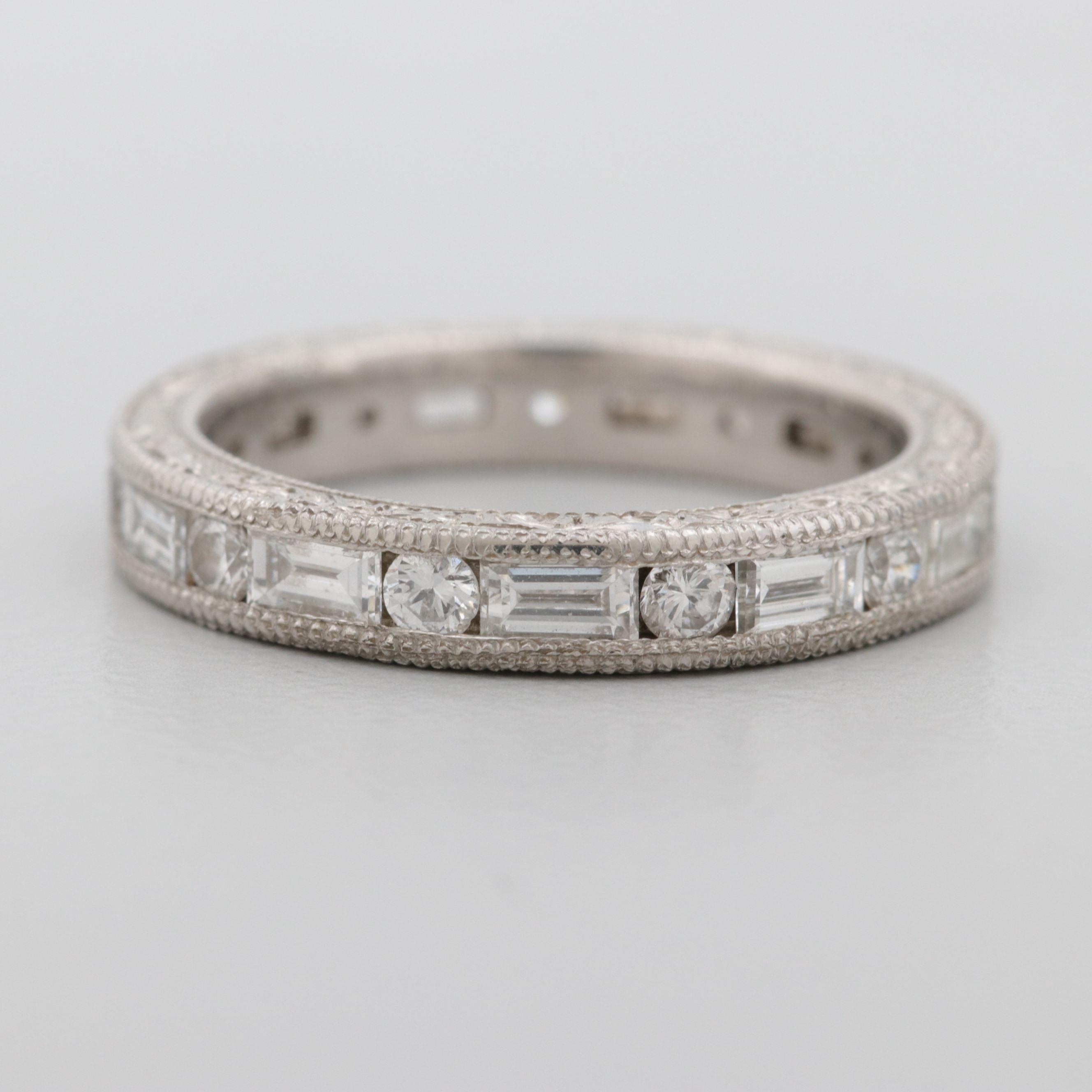 Platinum 1.49 CTW Diamond Eternity Ring