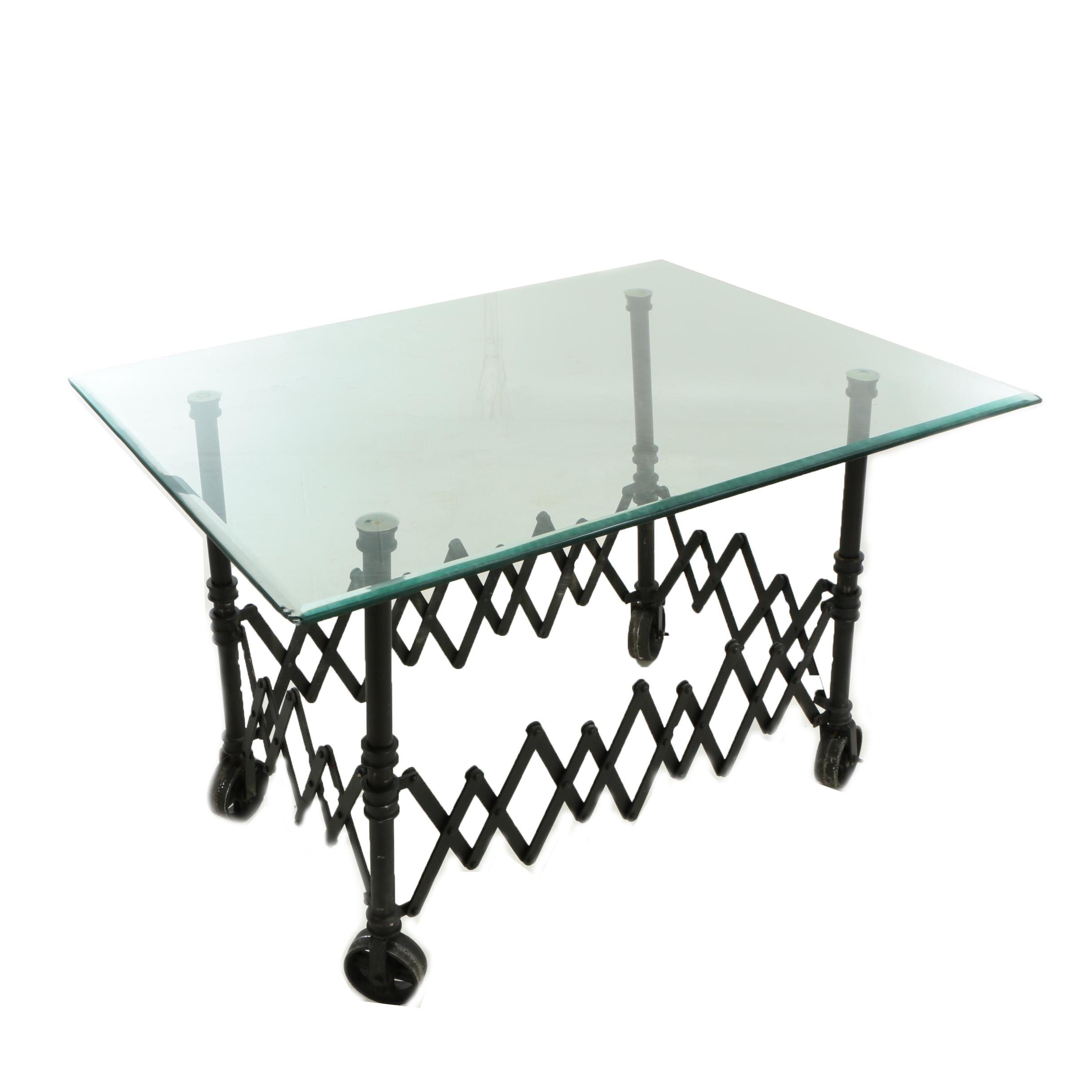 """Industrial Style """"Gurney"""" Dining Table"""