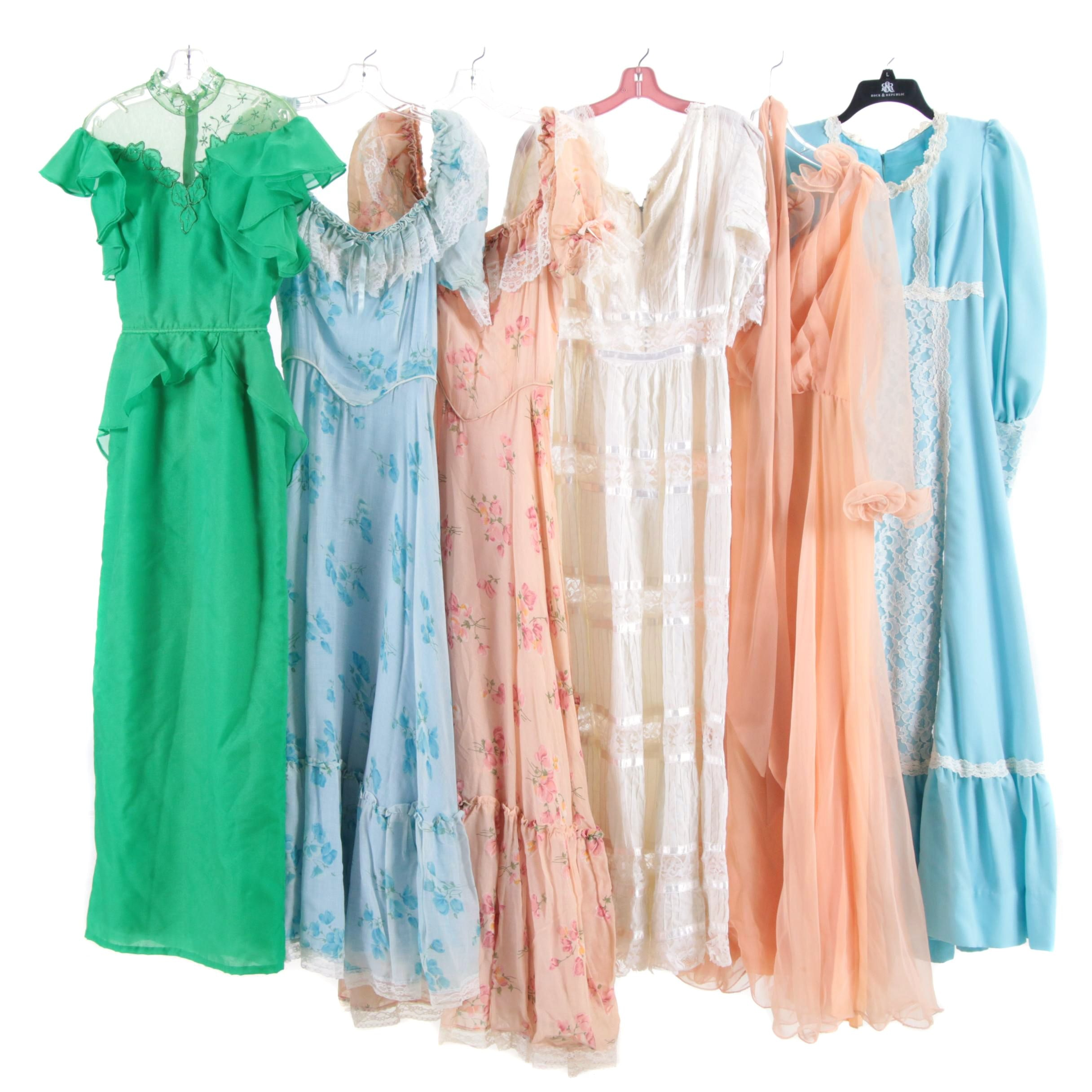 Dresses Including Miss Elliette California, 1970s Vintage