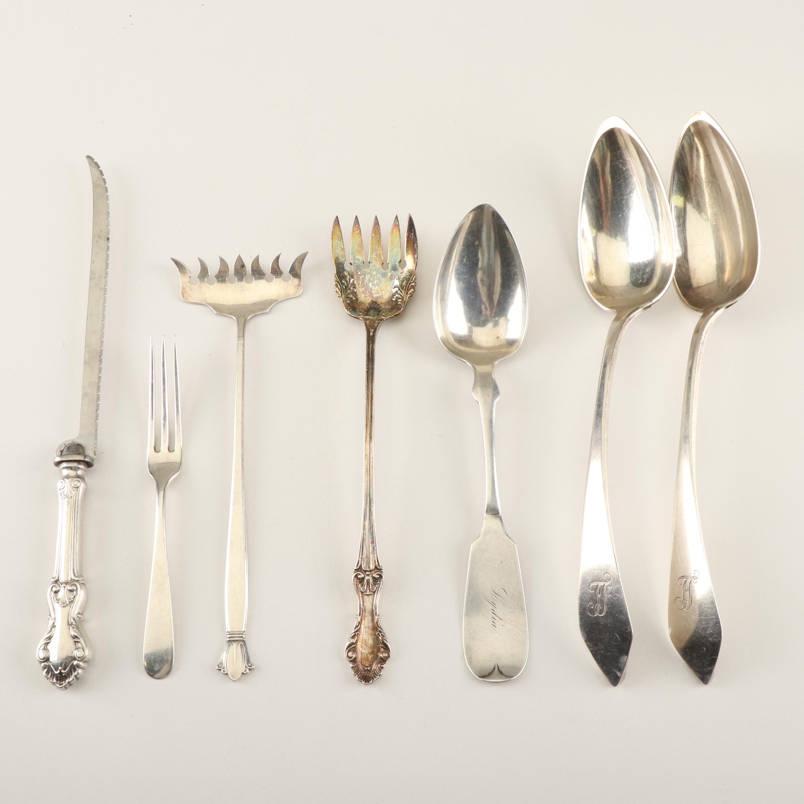 American Sterling Flatware Featuring Coin Silver