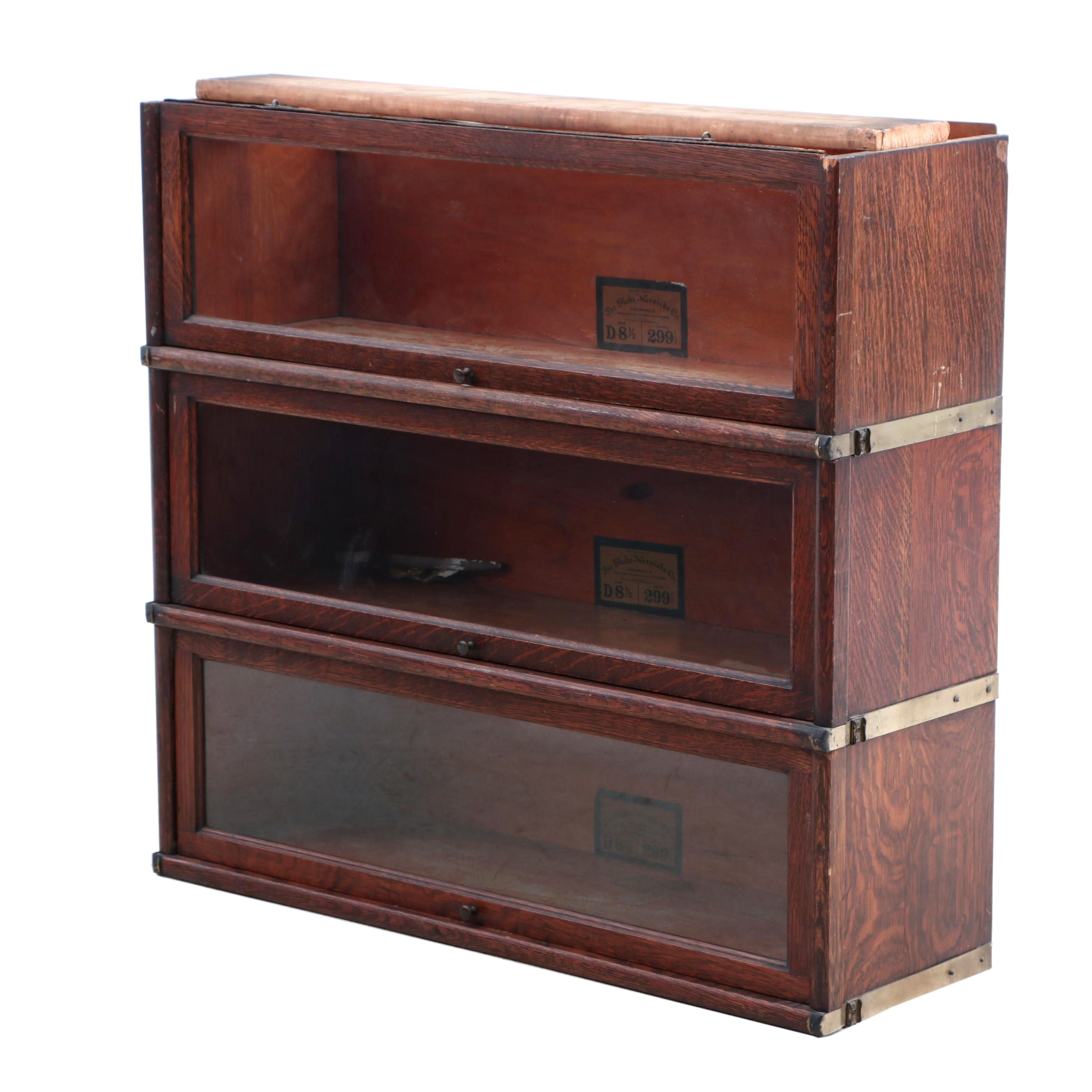 1920s Sectional Barrister Bookcase by Globe Wernicke