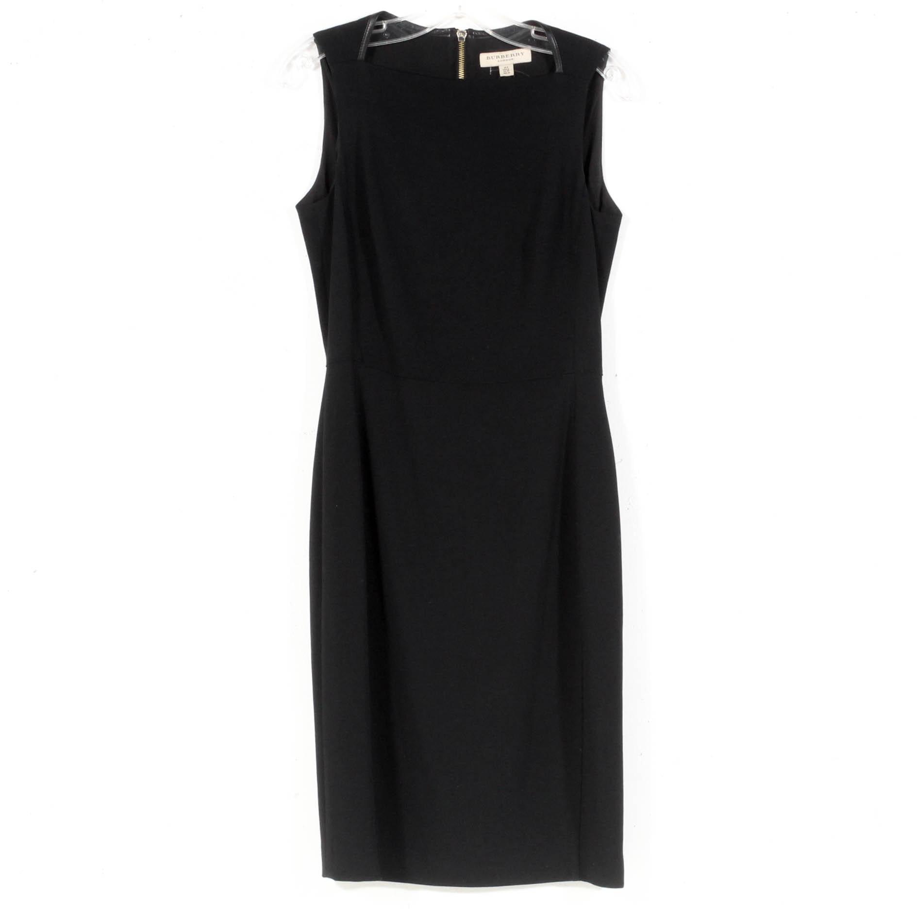 Burberry Sleeveless Black Dress