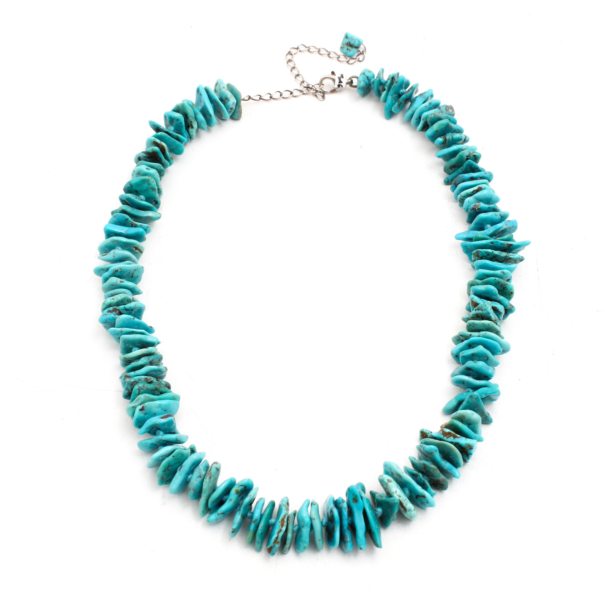 Turquoise Necklace with Sterling Silver Findings