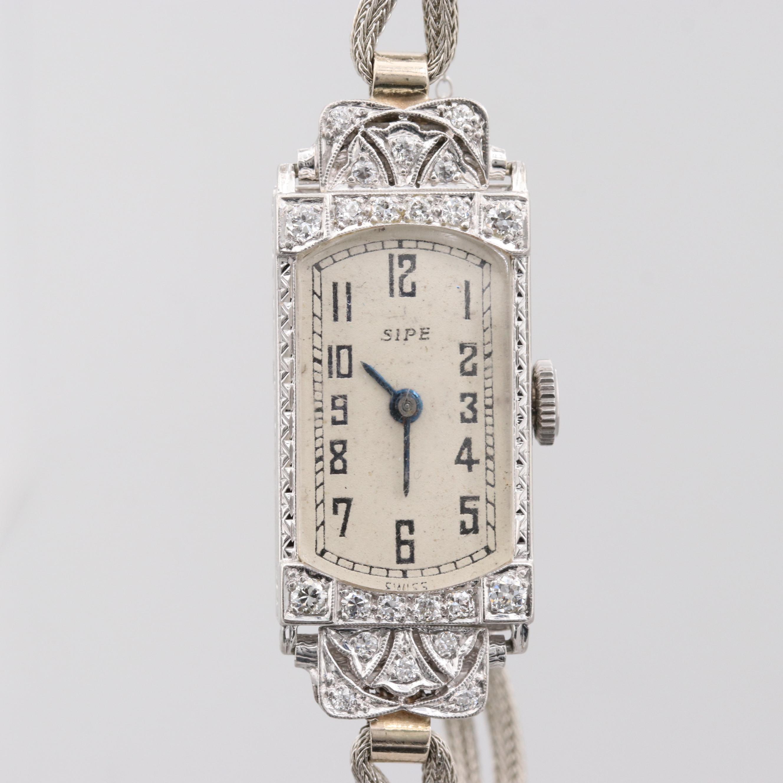 Concord 18K White Gold Wristwatch With Diamonds