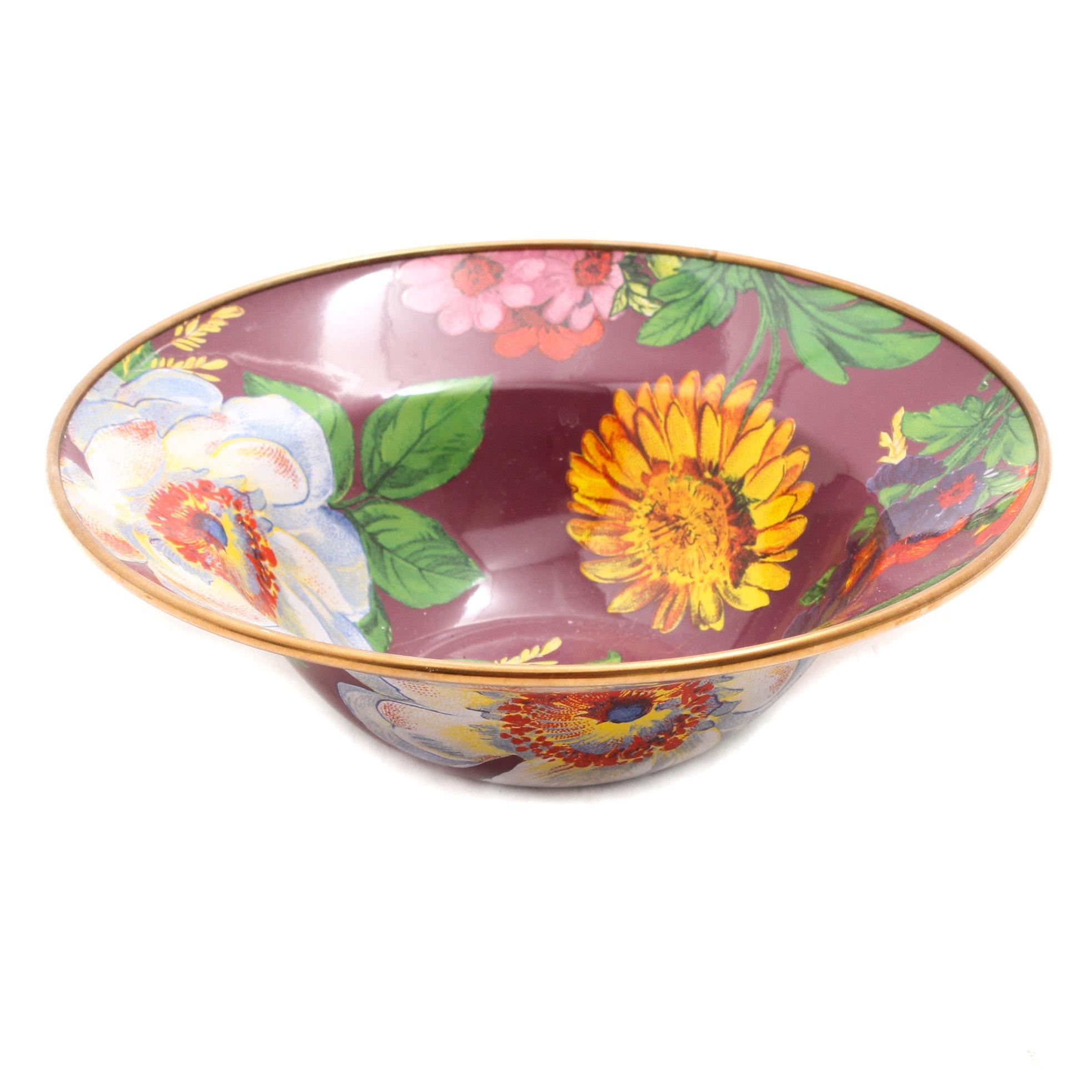 "McKenzie-Childs ""Flower Market"" Enamel on Metal Bowl"