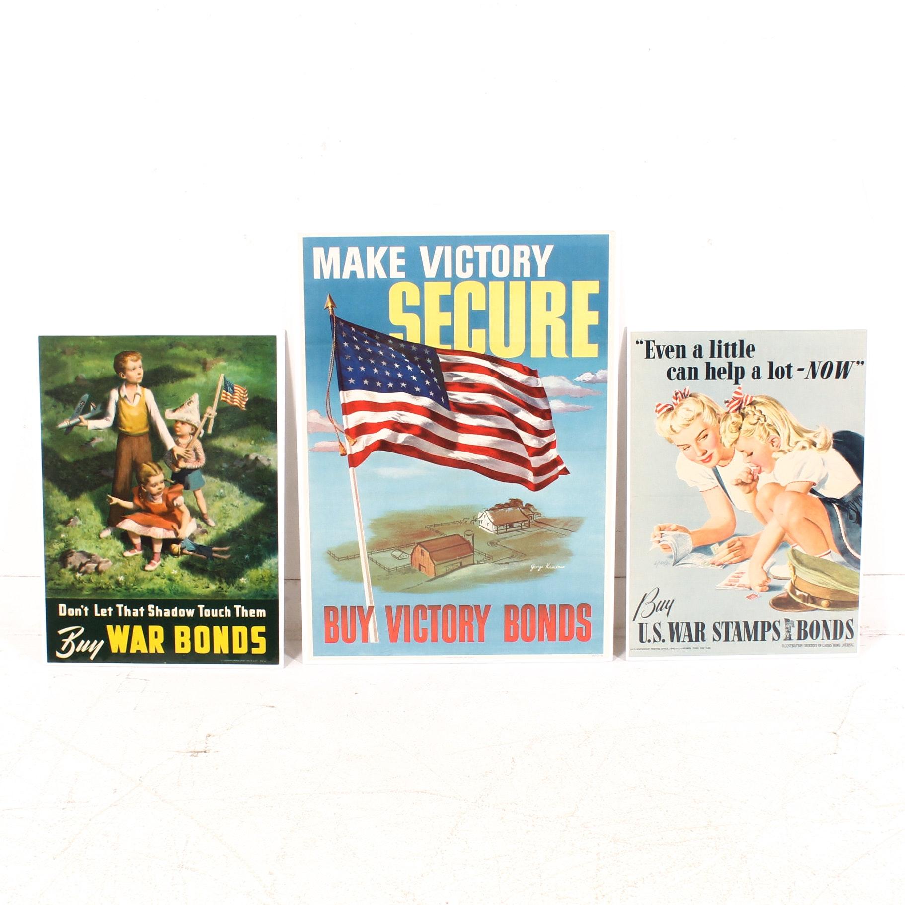 World War 2 War Bonds Posters