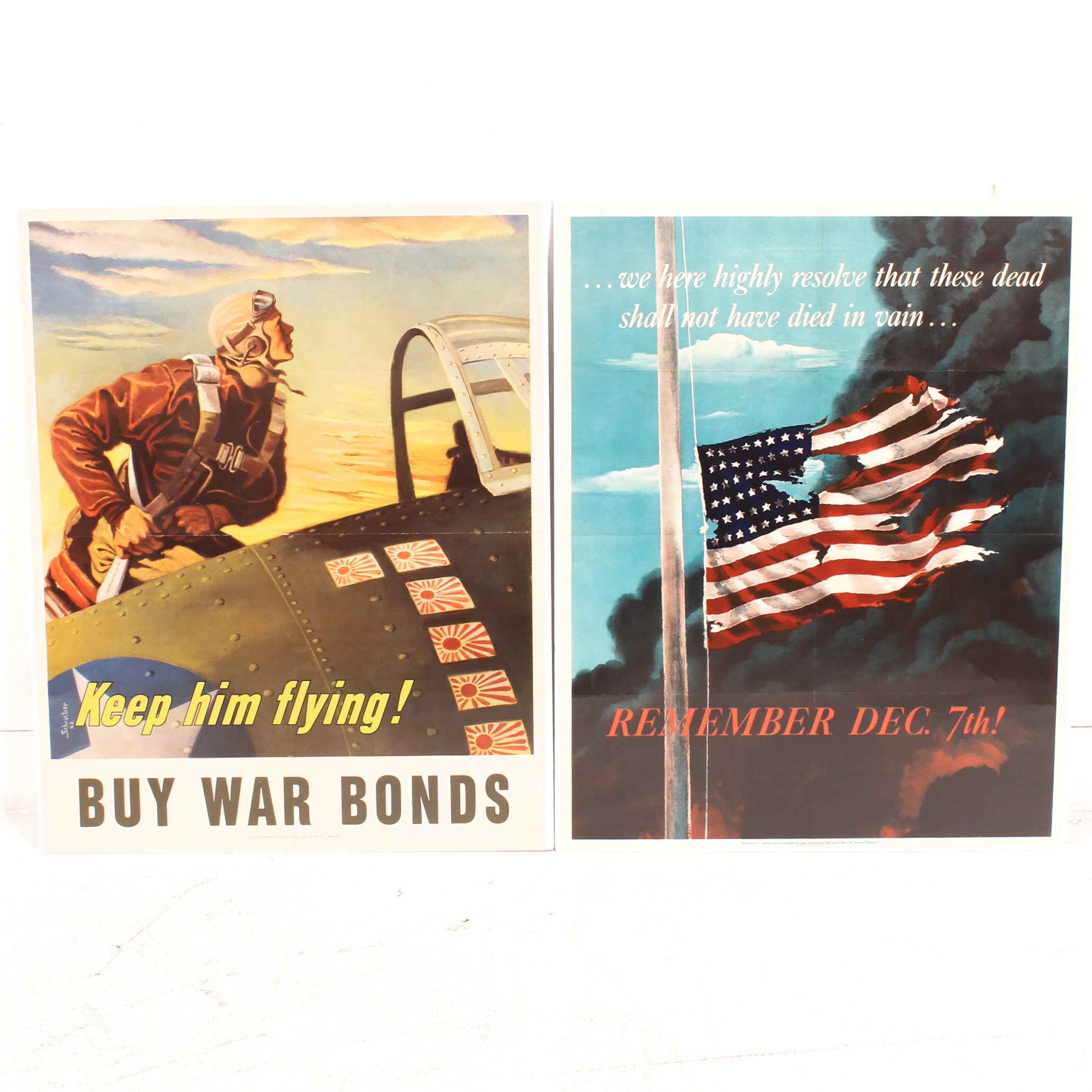 """World War 2 Posters with """"Remember Dec. 7th"""" by Allan Sandberg"""