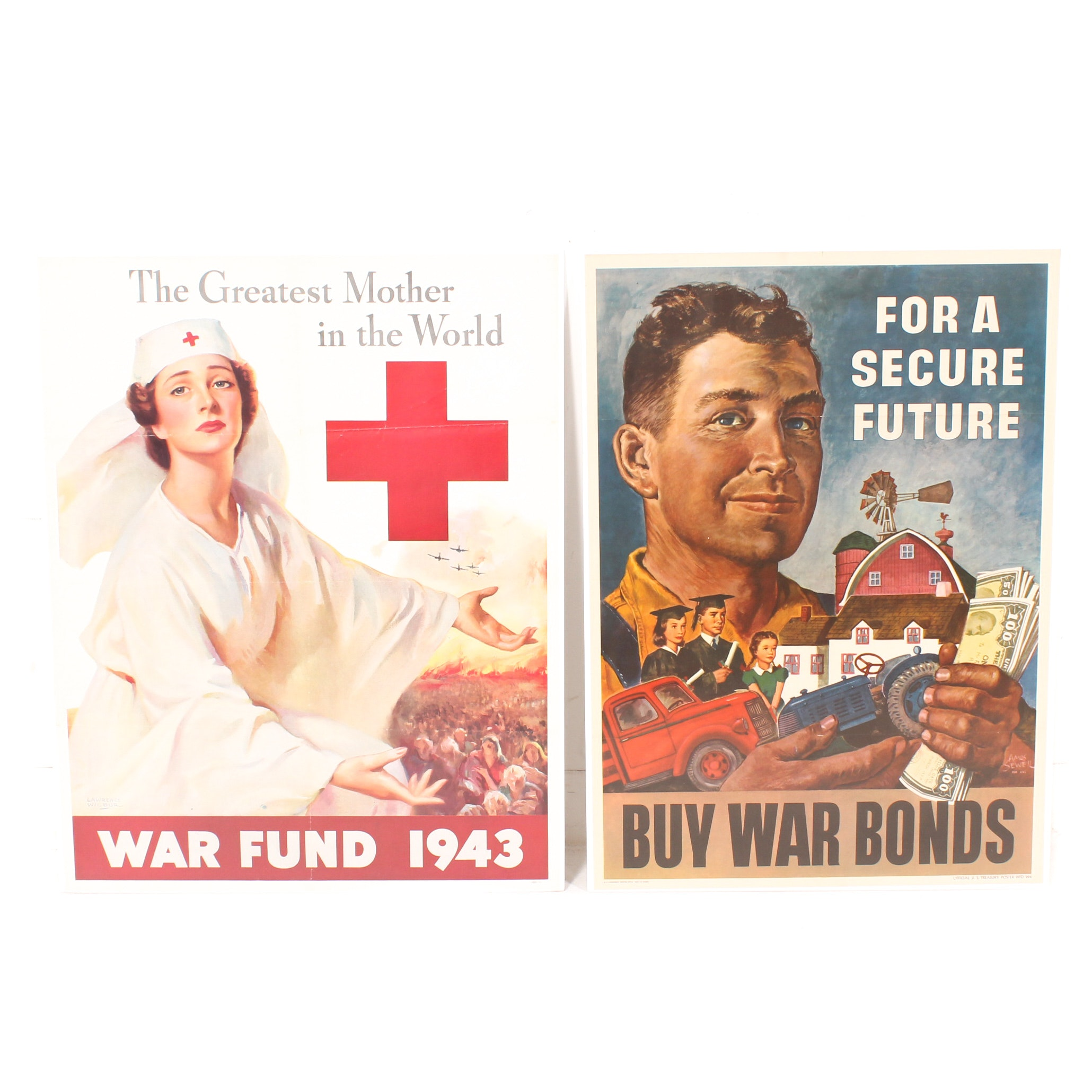 World War 2 Posters with 1943 Red Cross