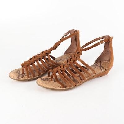 67f2edc97cf Zara Basic Metallic Gold Tone Leather Espadrille Wedge Sandals : EBTH