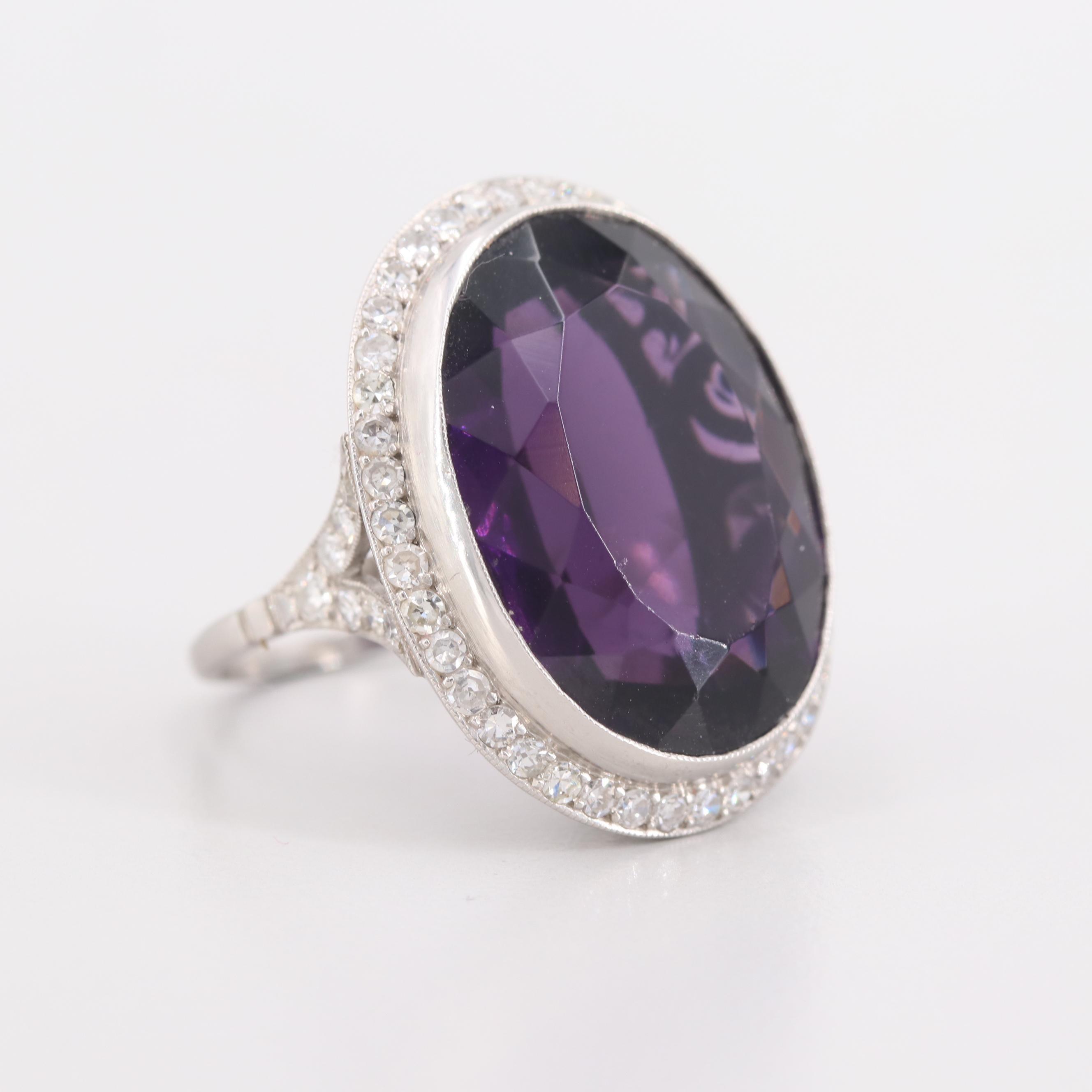 Platinum Glass and 1.15 CTW Diamond Ring