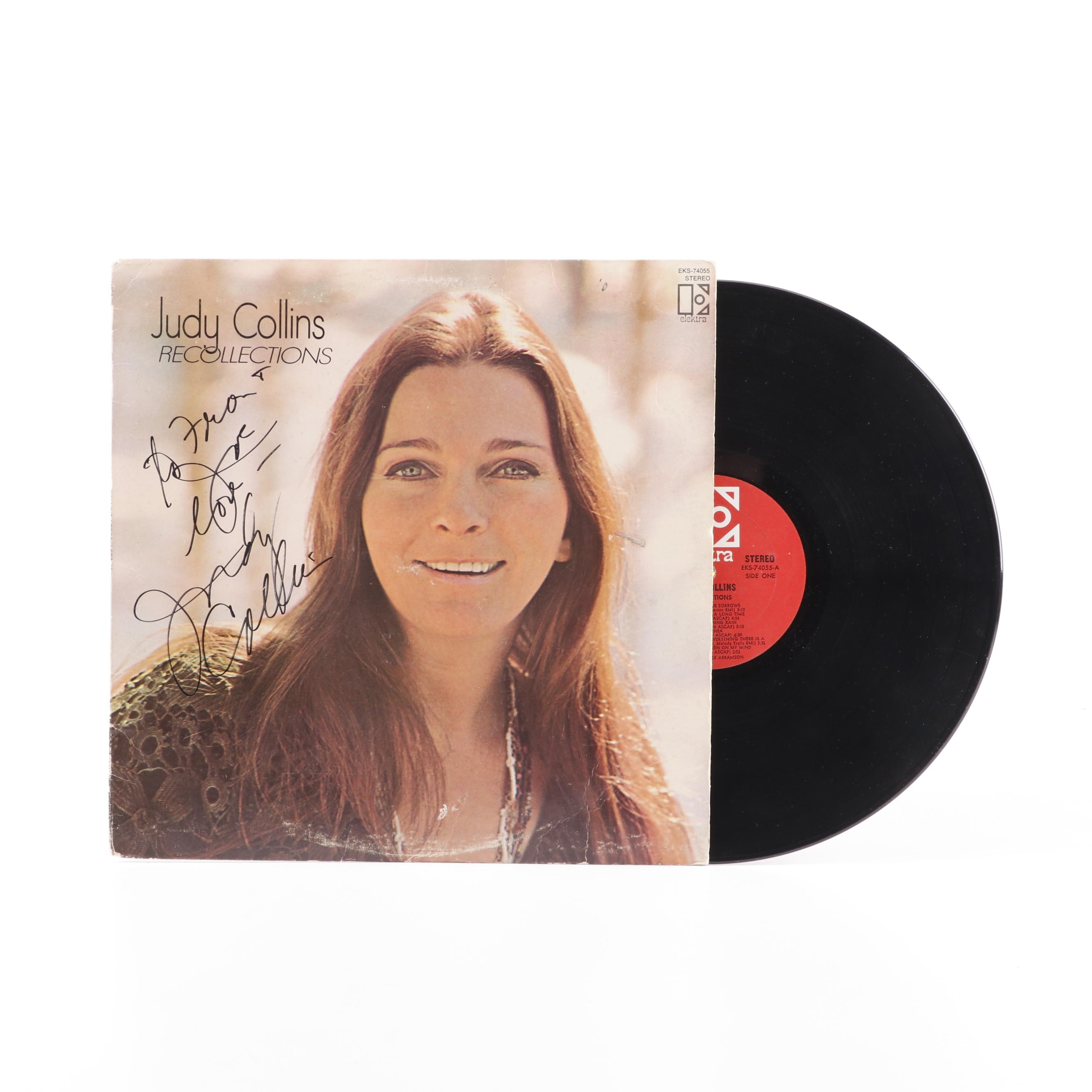 """Judy Collins Autographed Record Album """"Recollections"""""""