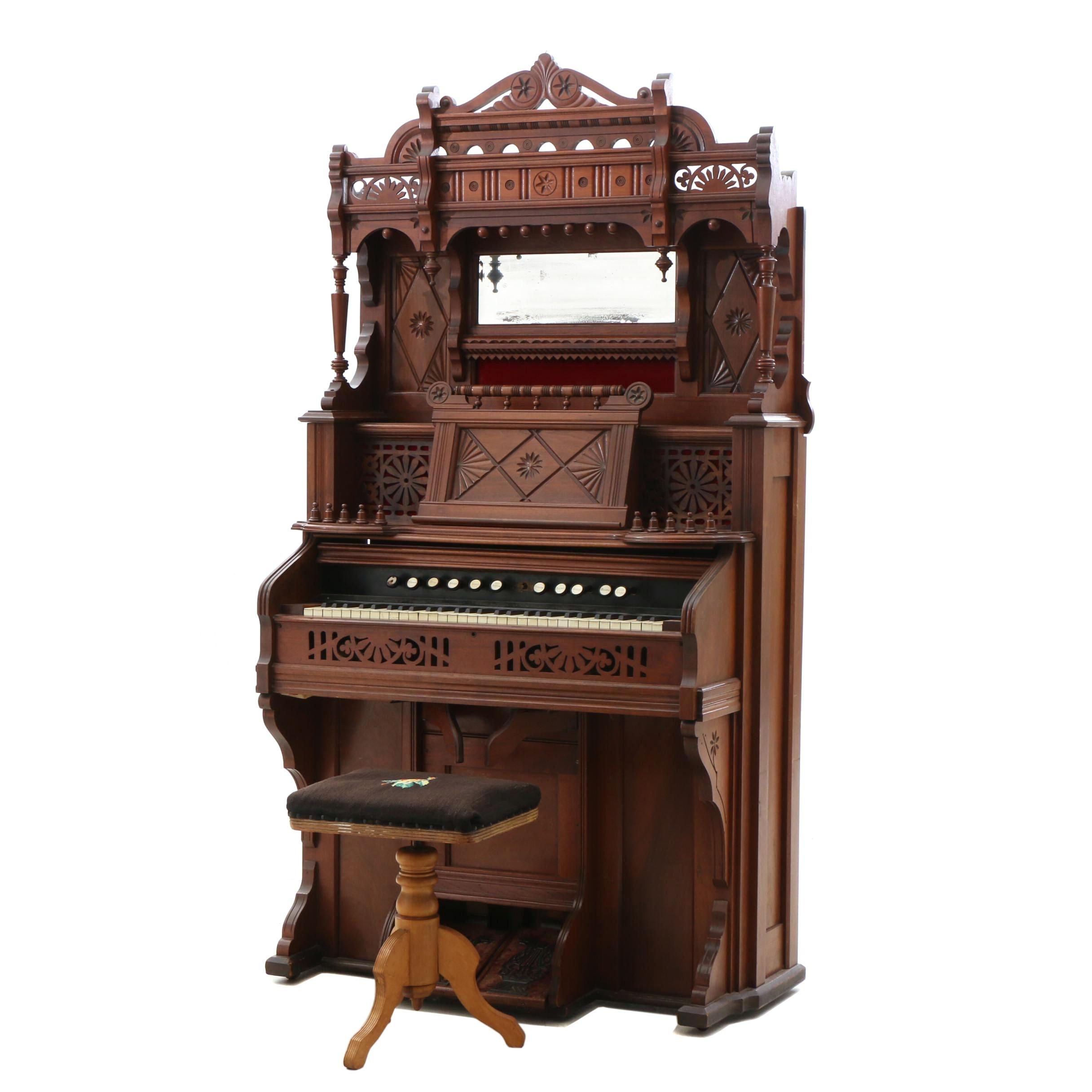 Victorian Pump Organ by Chicago Cottage Organ Company
