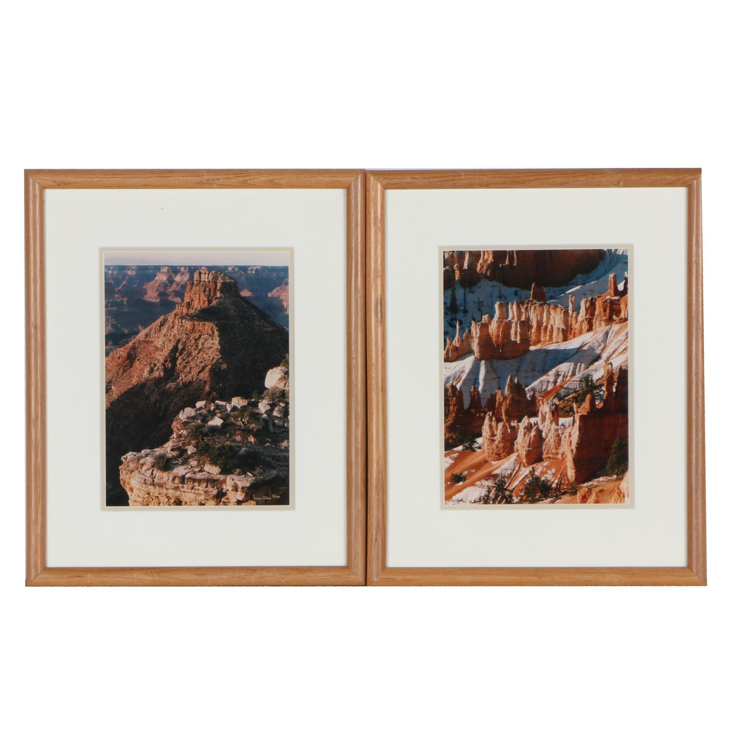 "Kurt Ross Digital Color Photographs ""Canyon Peak"" and ""Ragged Patterns"""