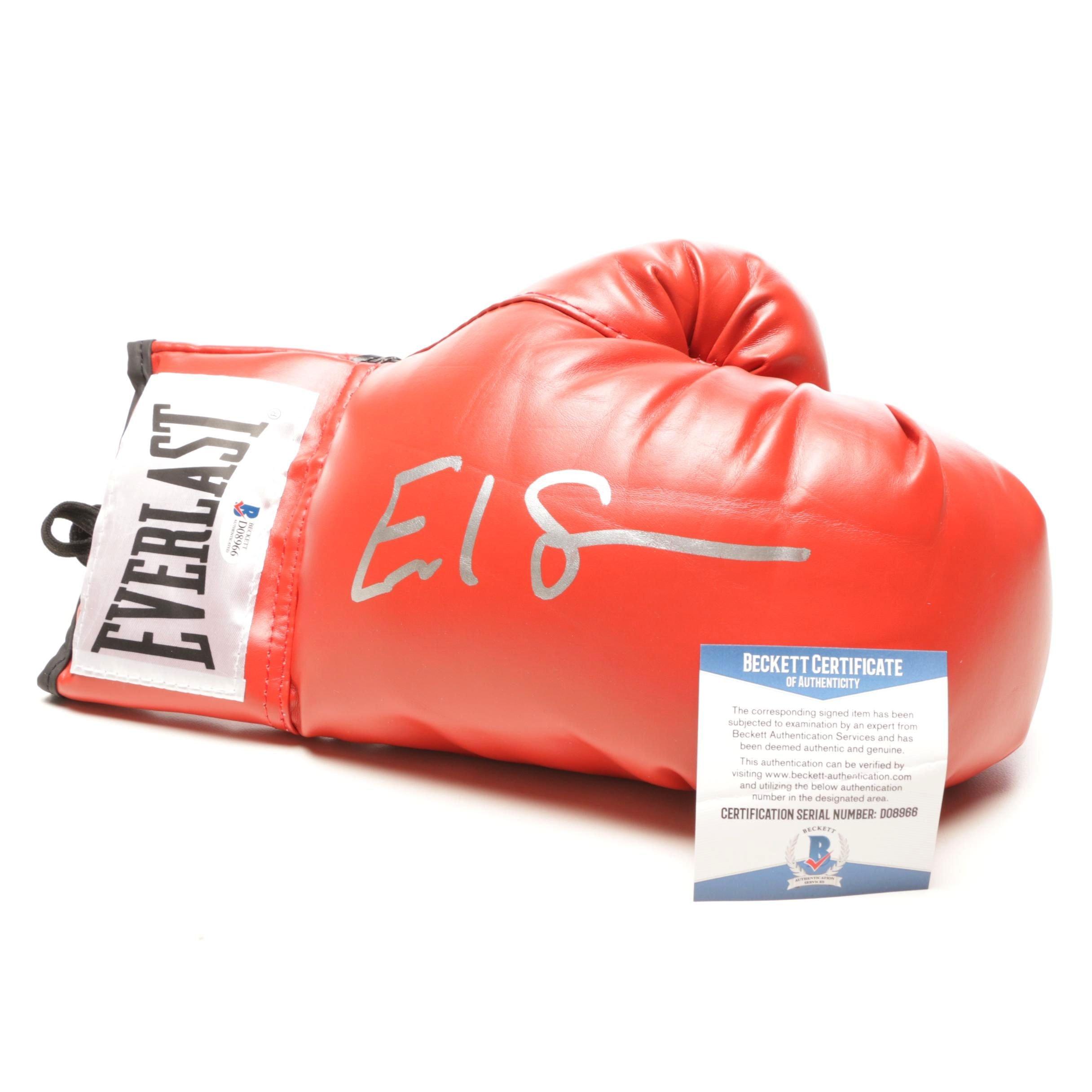 Earl Spence Jr. Signed Everlast Boxing Glove Beckett COA