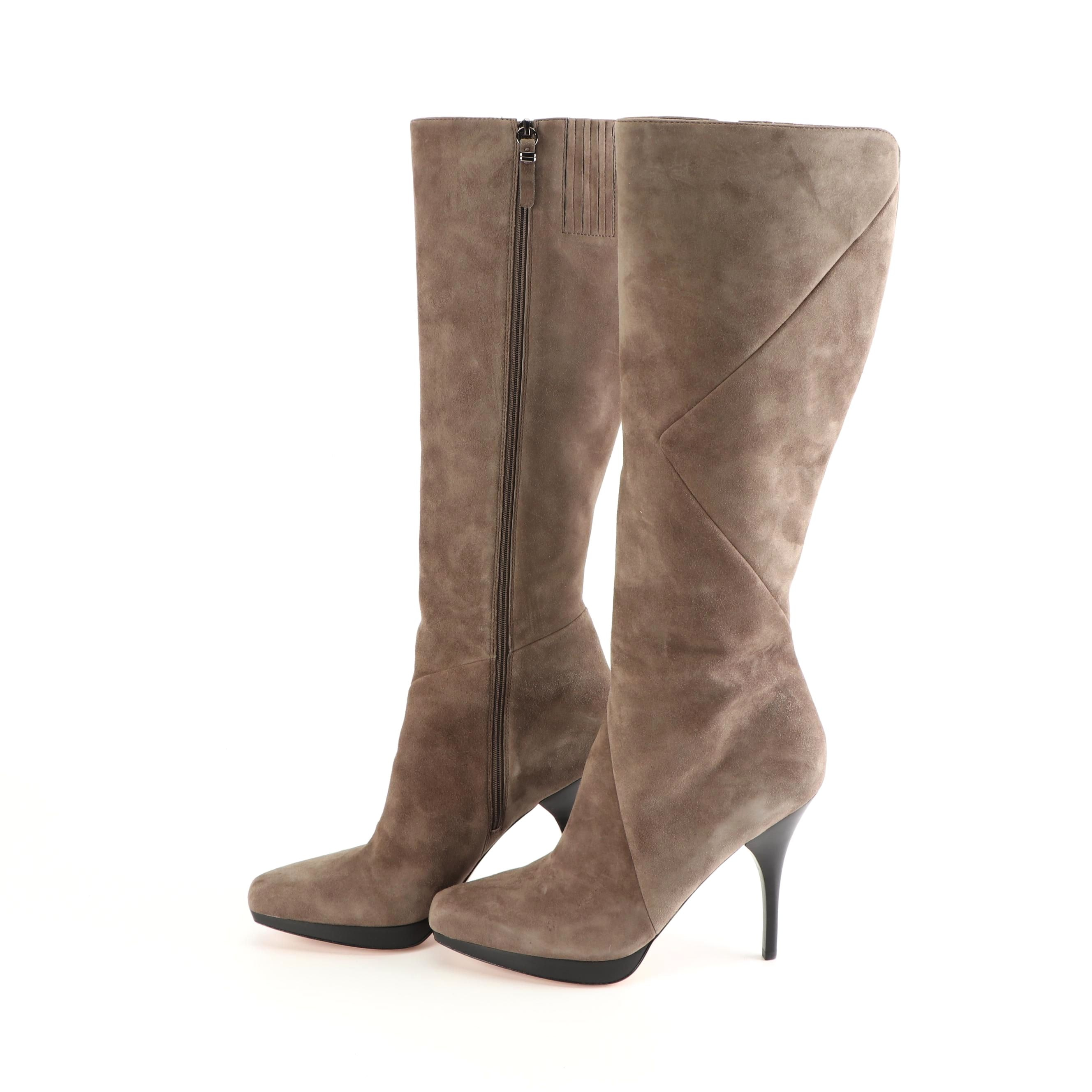 Women's Via Spiga Tall Taupe Suede Boots